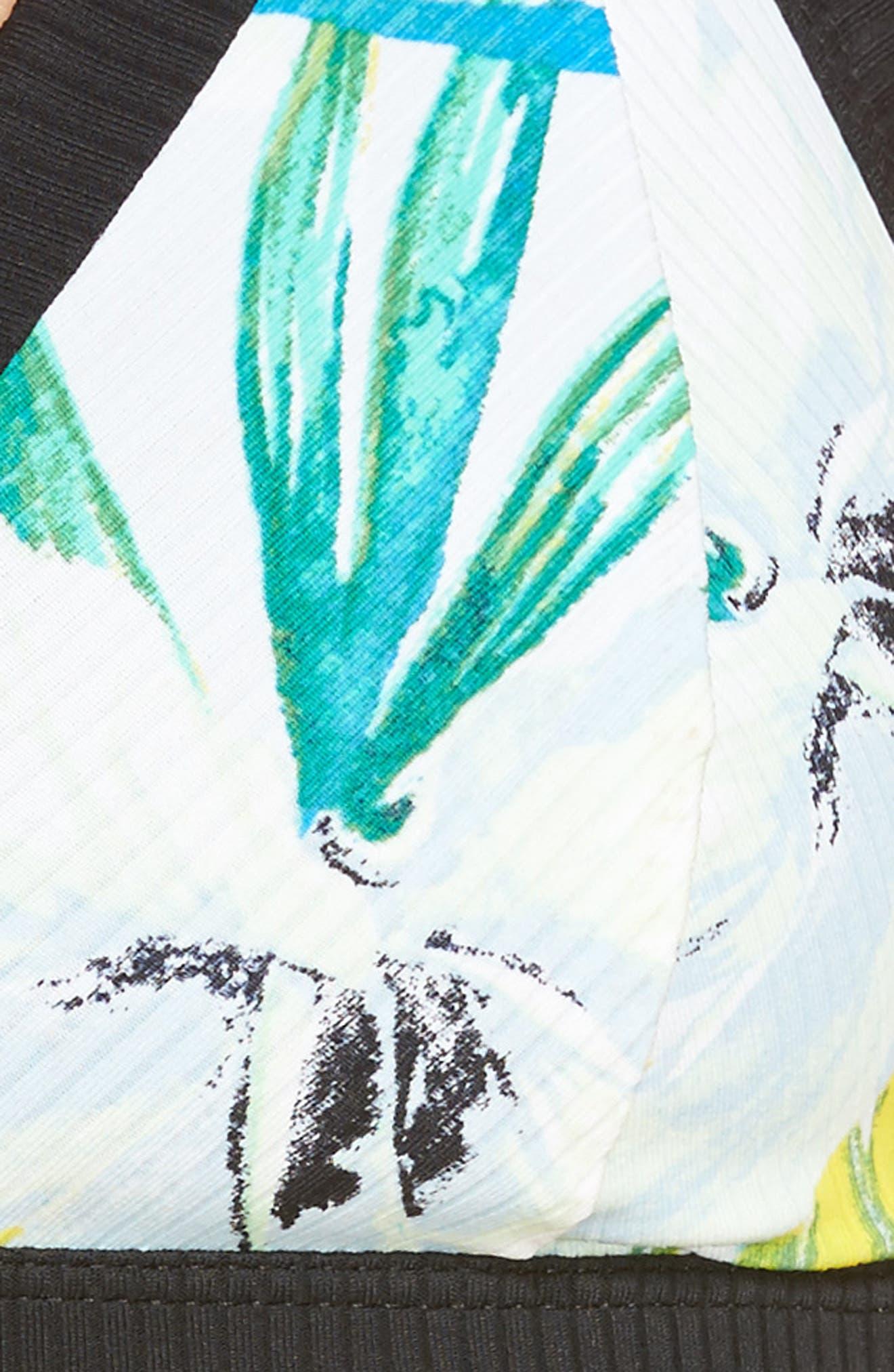 Garden Quick Dry Surf Bikini Top,                             Alternate thumbnail 8, color,                             Pure Platinum