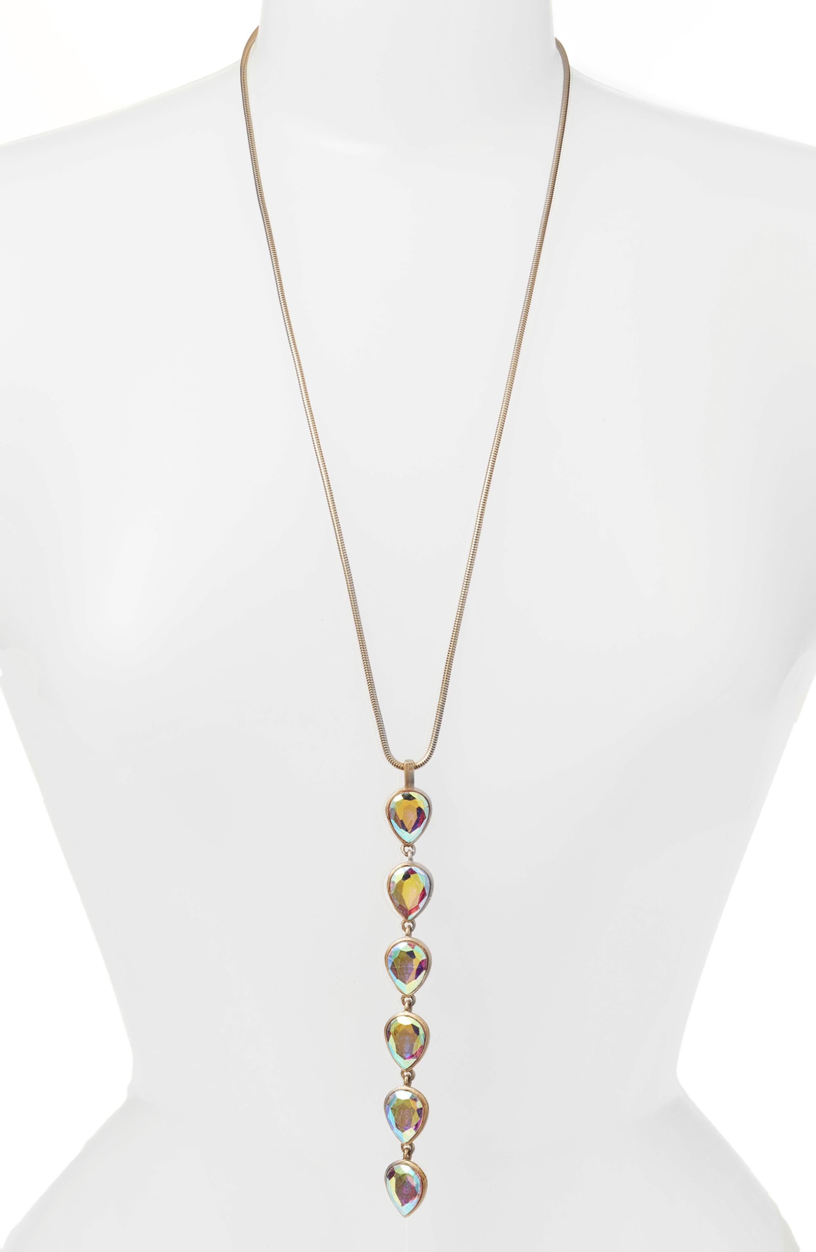 Sydney Y-Necklace,                         Main,                         color, Iridescent