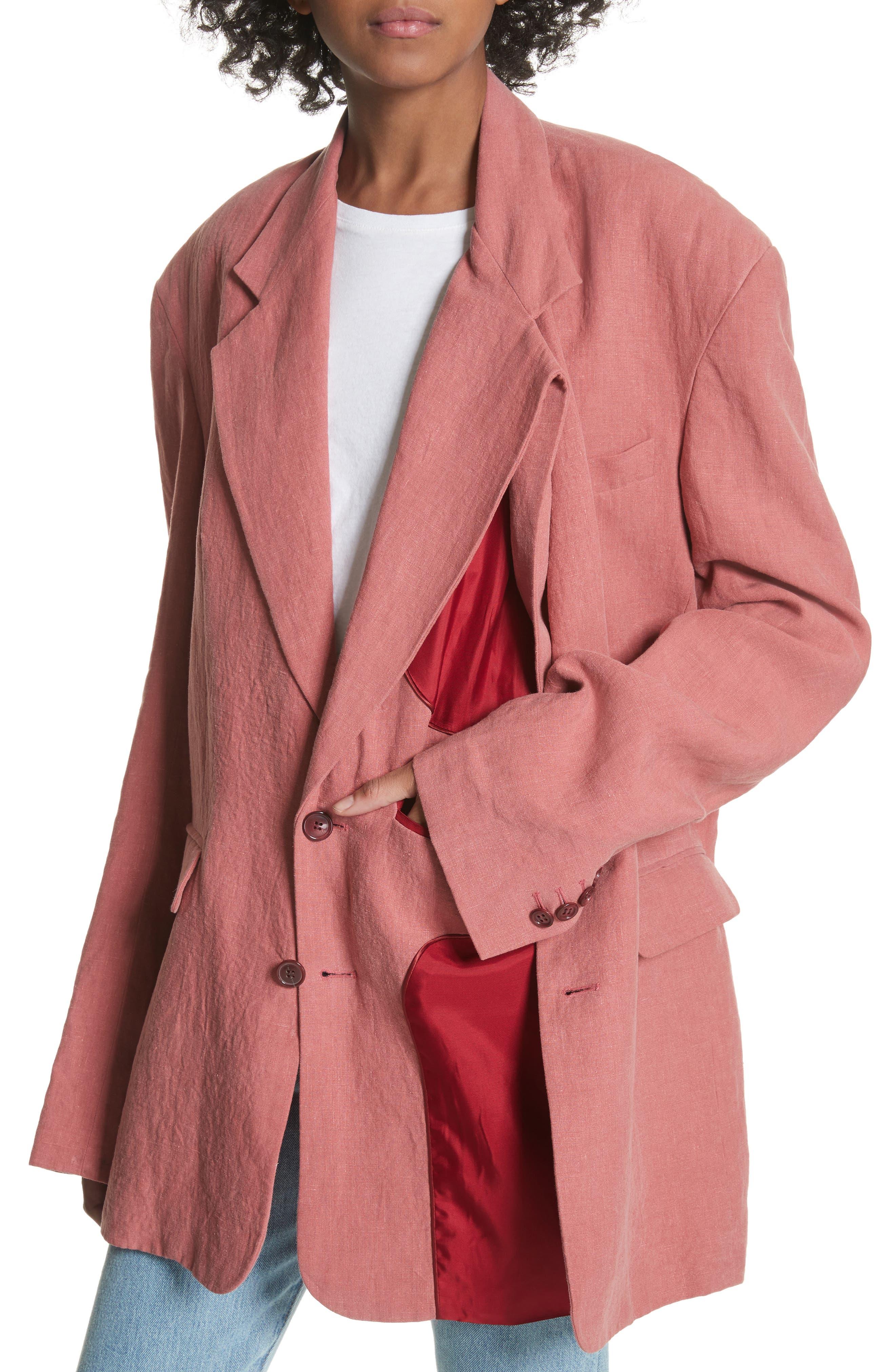 Y/Project Oversized Linen Blazer