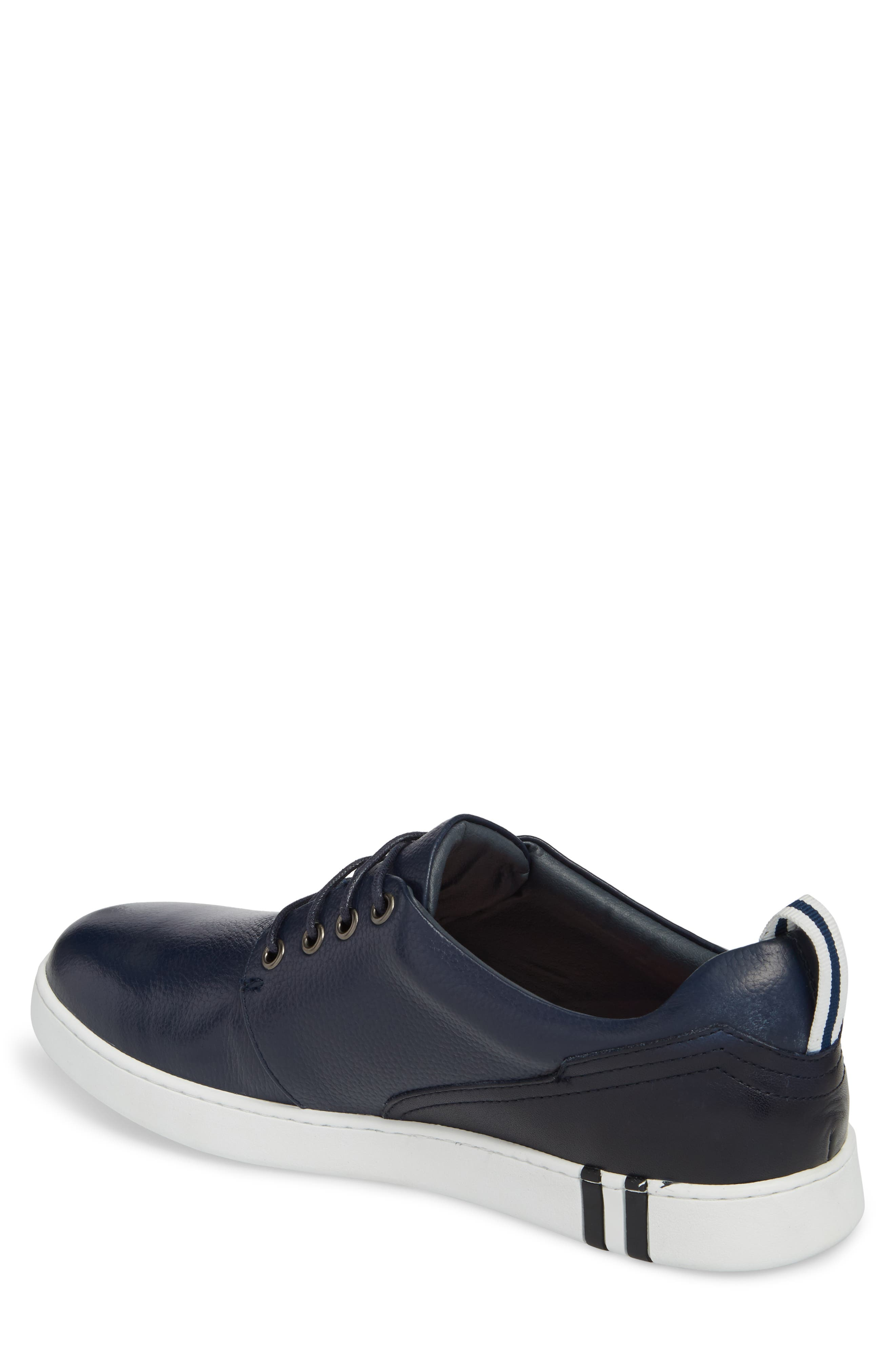 Kings Low Top Sneaker,                             Alternate thumbnail 2, color,                             Navy Leather