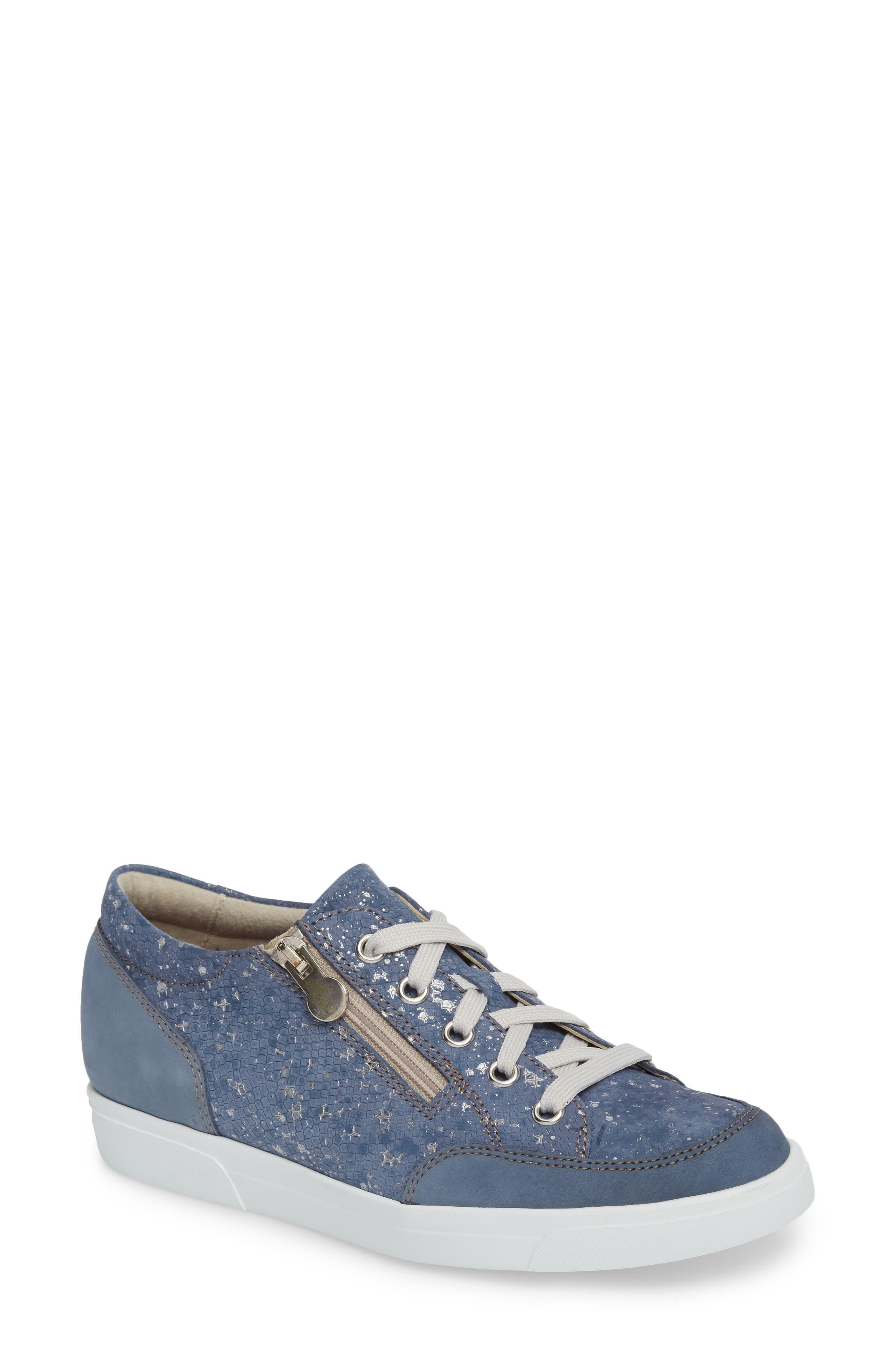 Gabbie Sneaker,                         Main,                         color, Denim Metallic Print