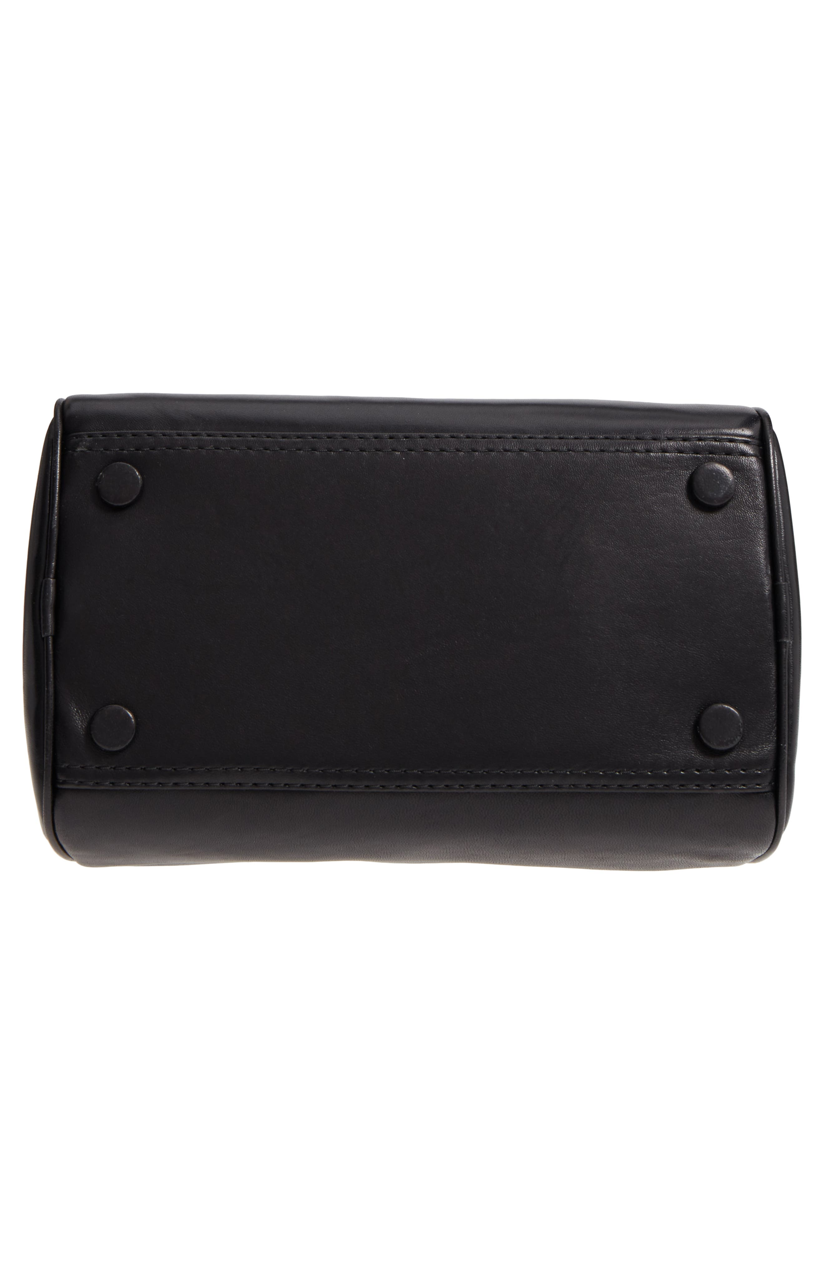 Small Ray Lambskin Leather Flight Bag,                             Alternate thumbnail 6, color,                             Black