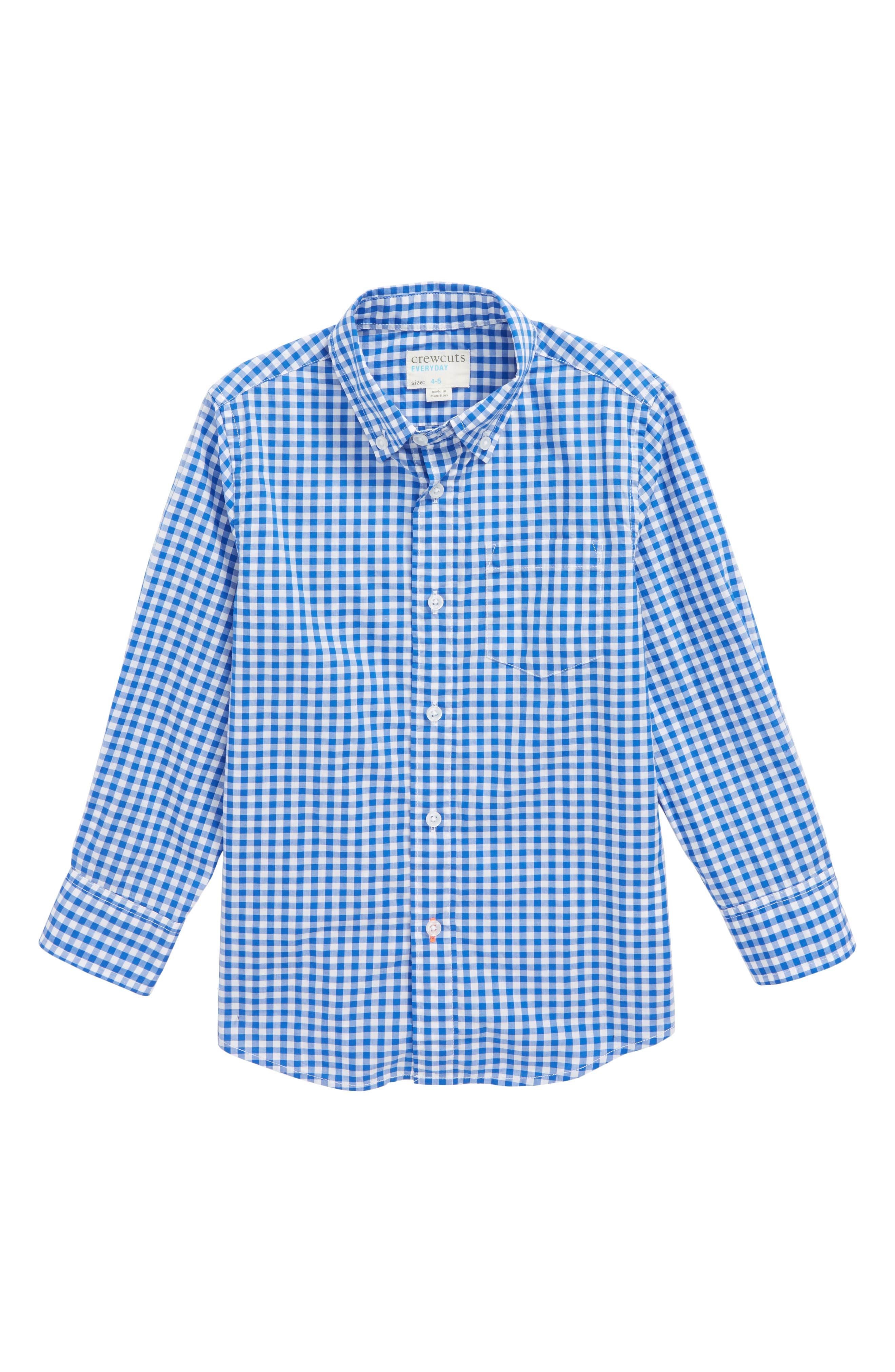 crewcuts by J.Crew Jenson Gingham Woven Shirt (Toddler Boys, Little Boys & Big Boys)