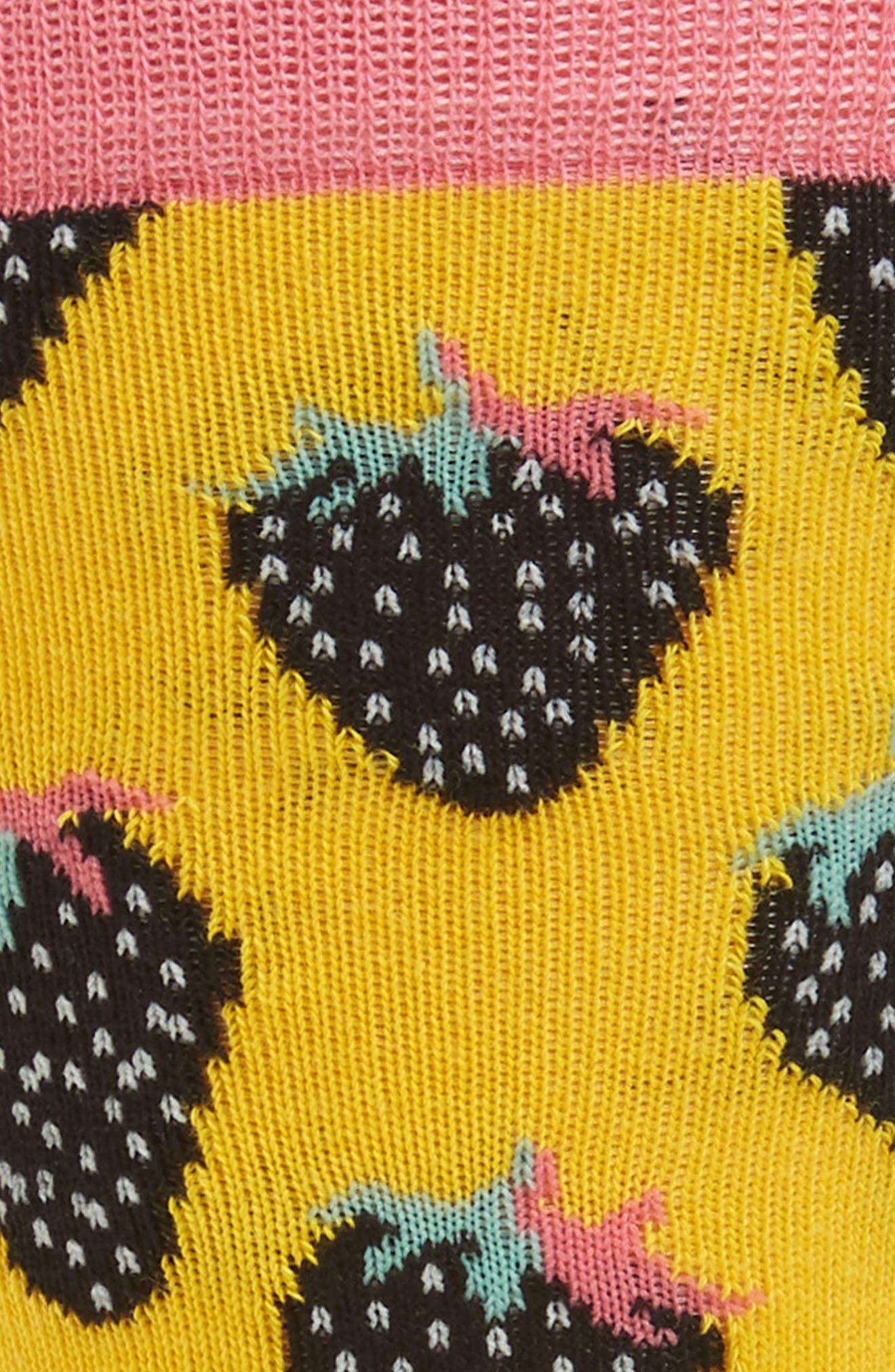 Strawberry Crew Socks,                             Alternate thumbnail 2, color,                             Light Pink