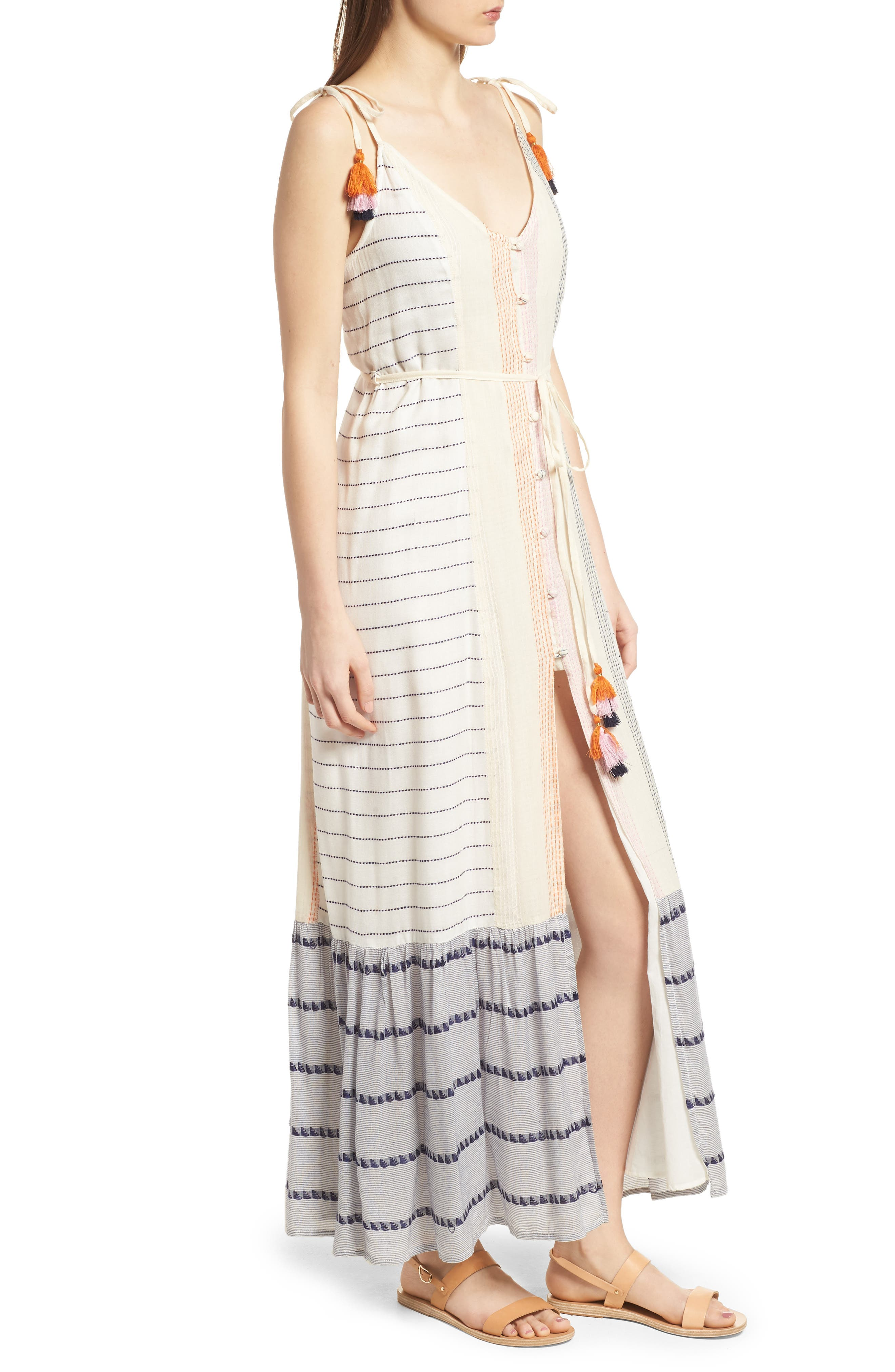 Villa Maxi Dress,                             Alternate thumbnail 3, color,                             Calamar Stripe