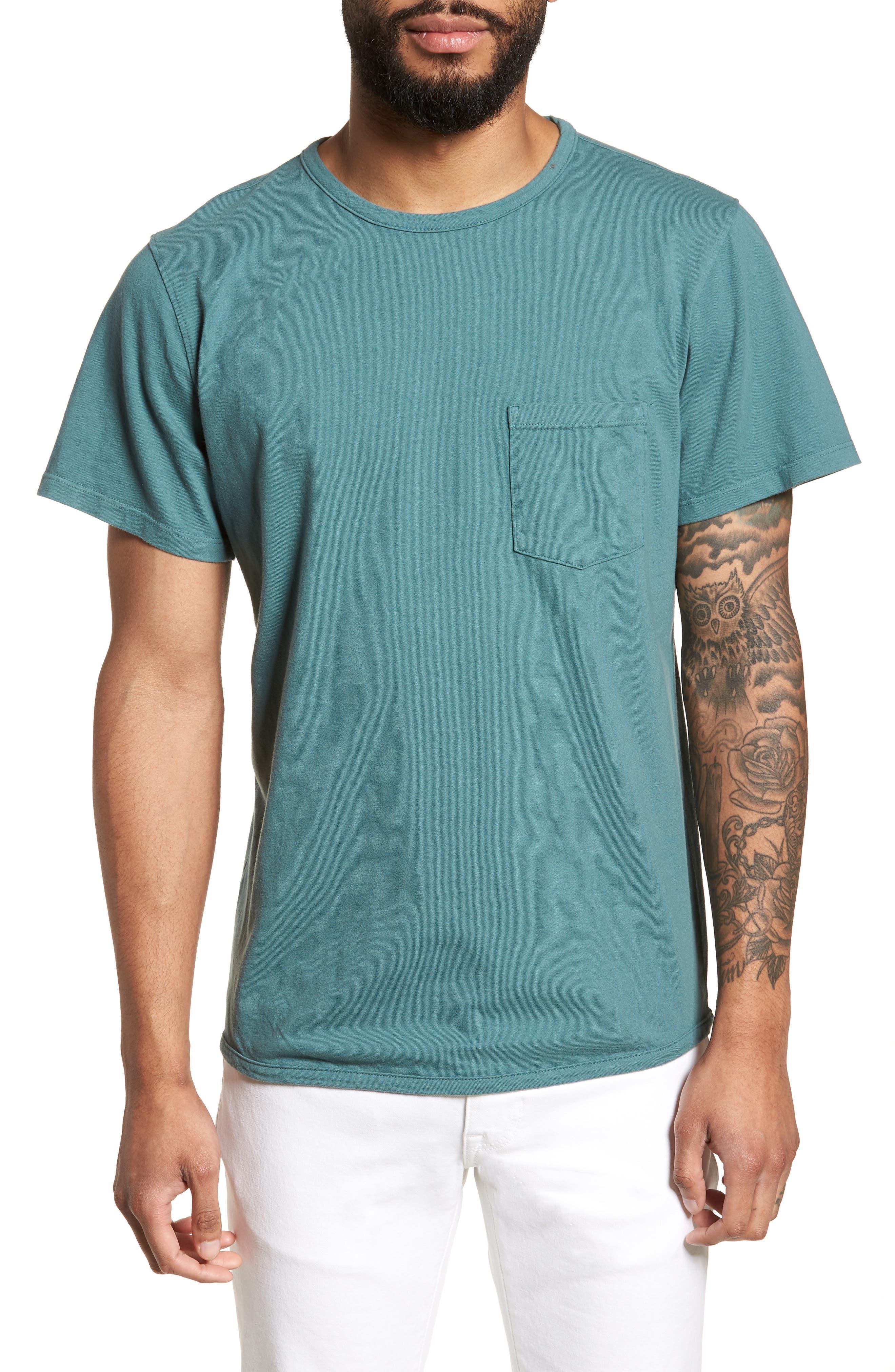 Pocket T-Shirt,                         Main,                         color, Aqua