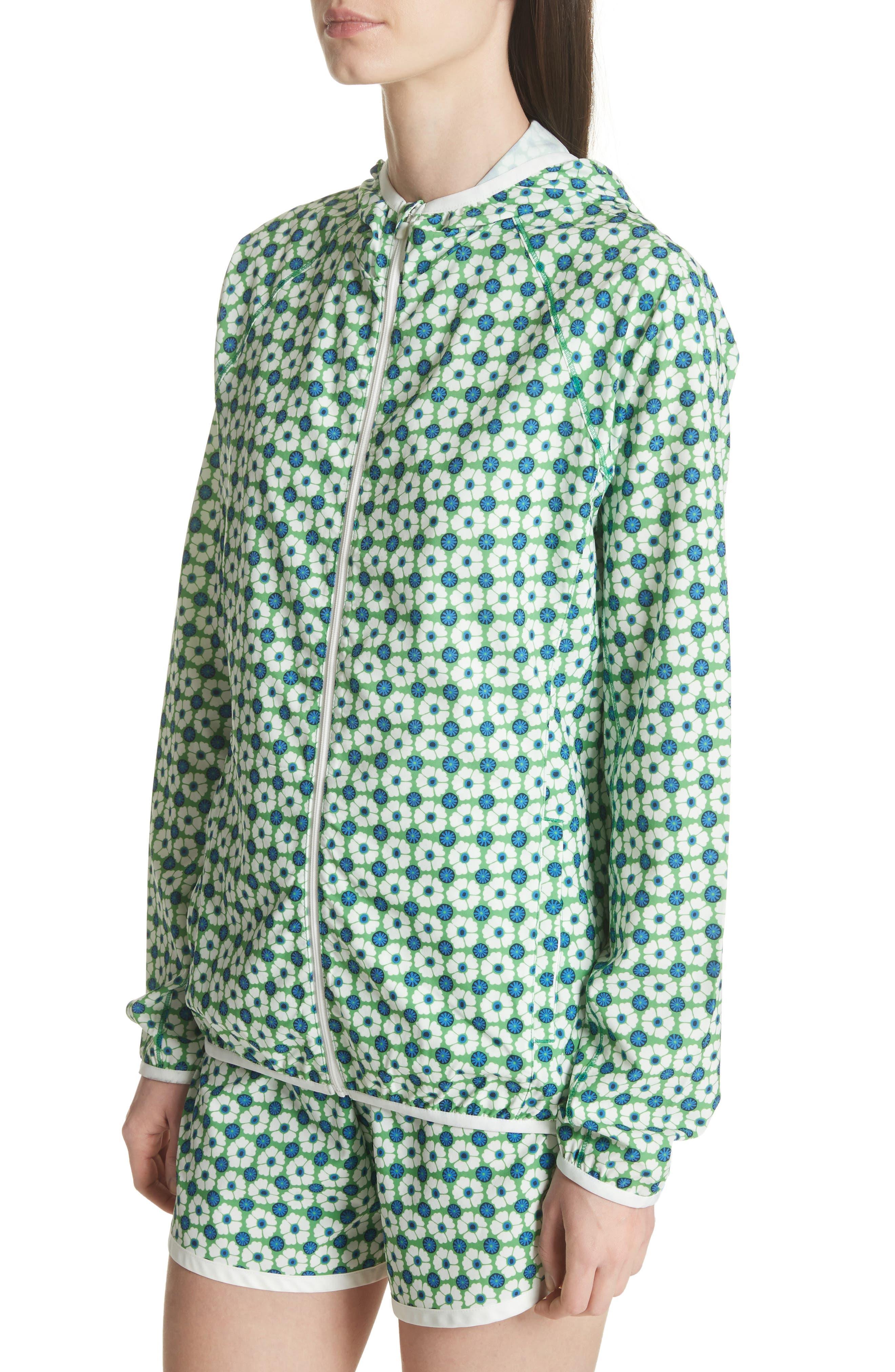 Print Packable Jacket,                             Alternate thumbnail 4, color,                             Scarf Blue Floral