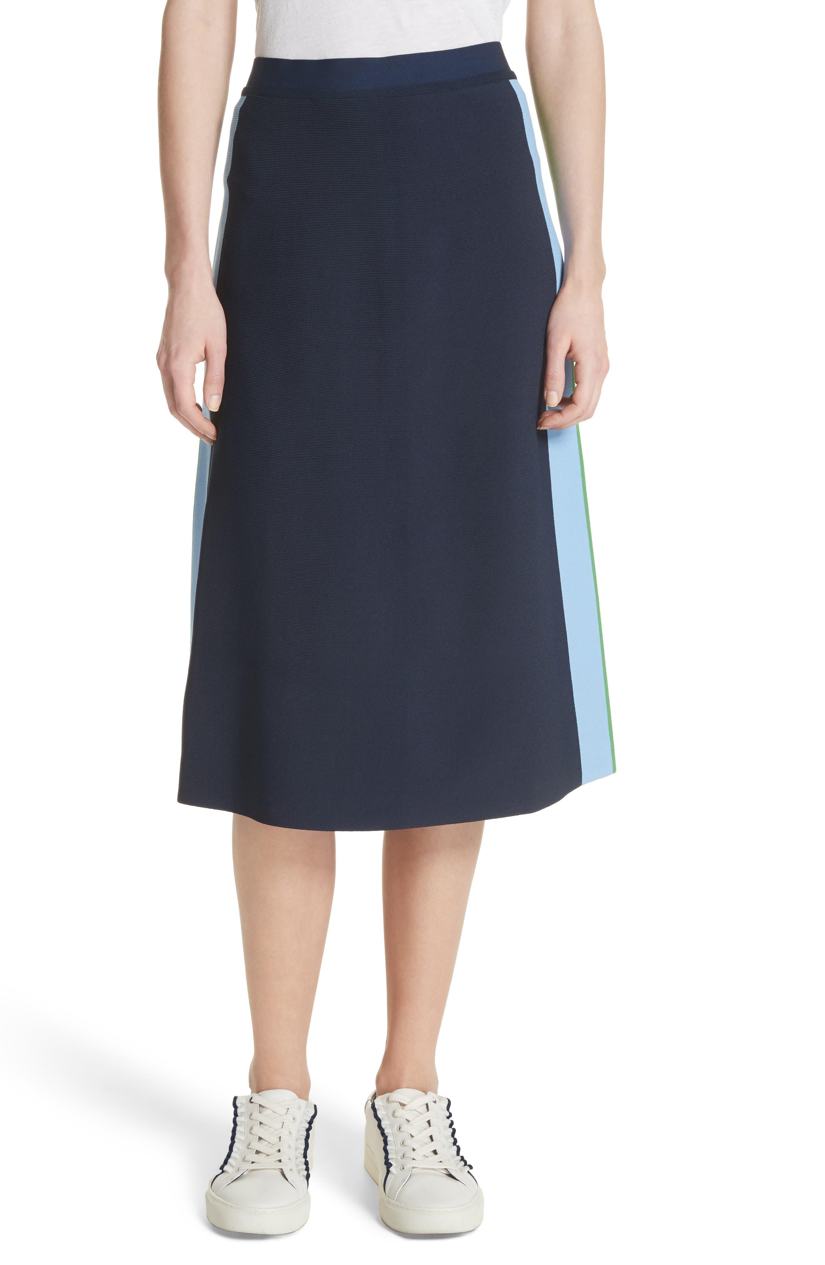 Tory Sport Tech Knit Colorblock Skirt