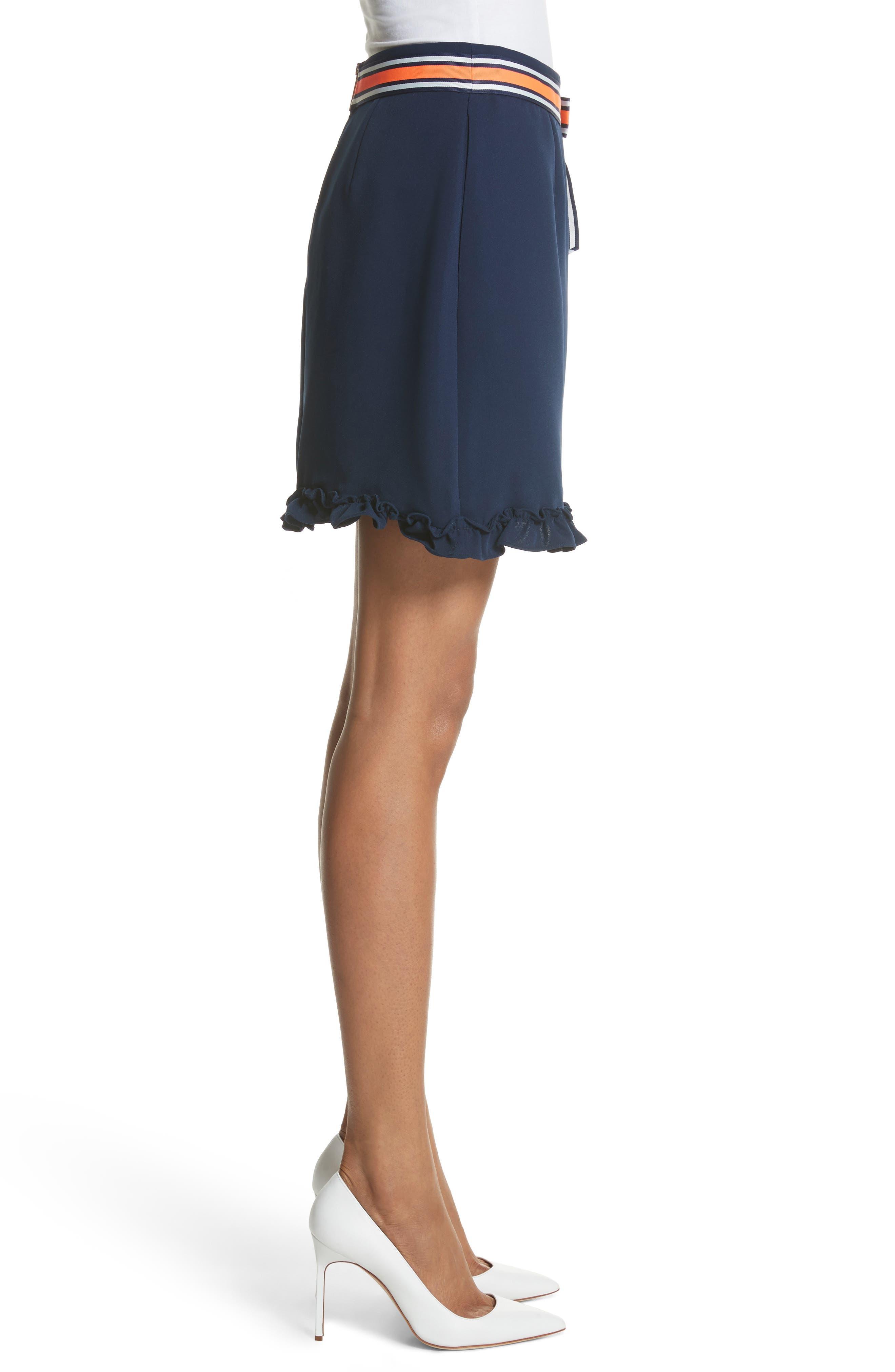 Xzenia Bow Miniskirt,                             Alternate thumbnail 3, color,                             Navy