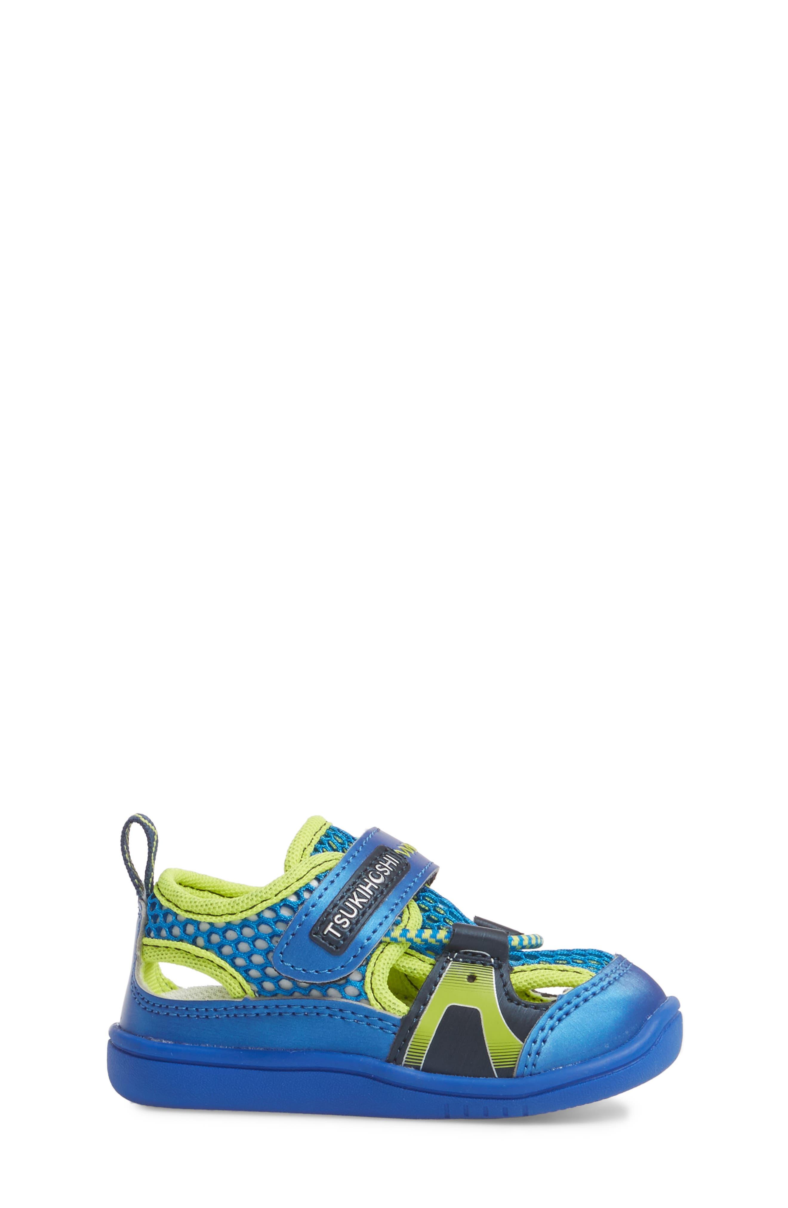 Ibiza Washable Sandal,                             Alternate thumbnail 3, color,                             Royal/ Lime