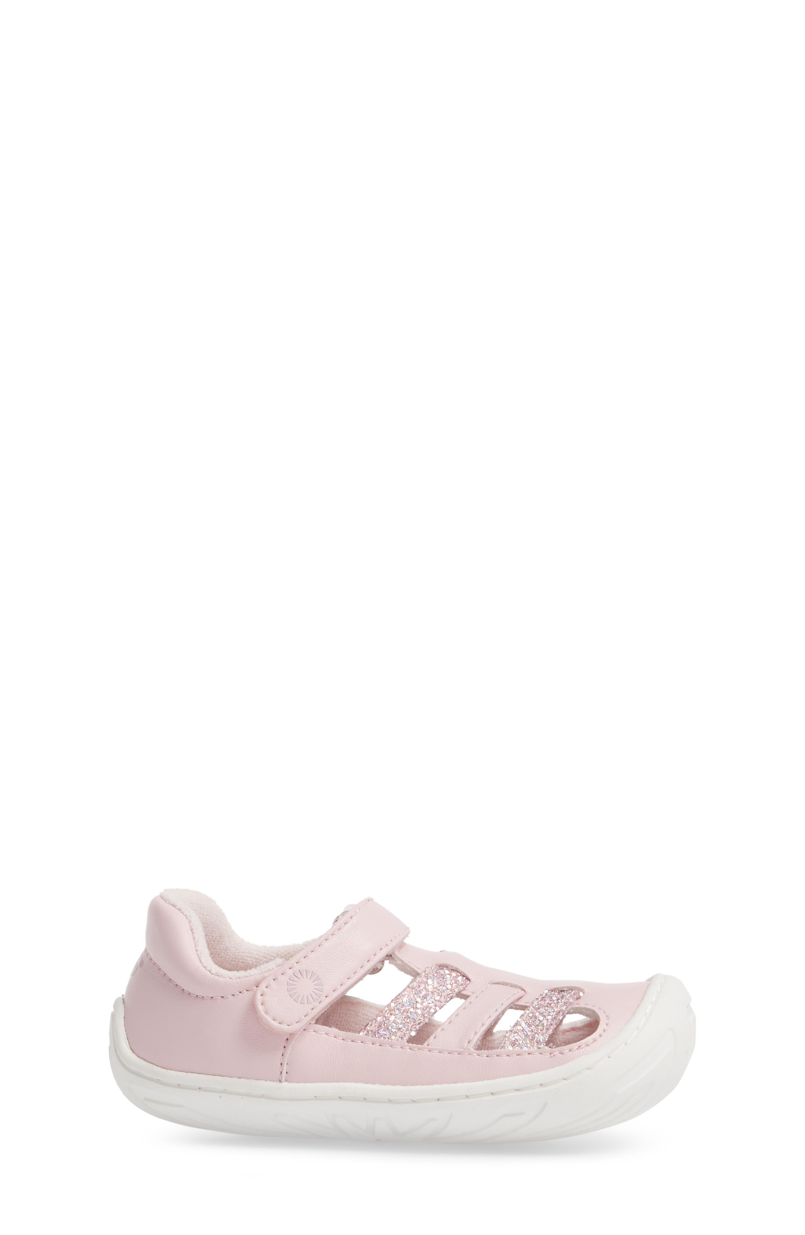 Santore Glitter Sandal,                             Alternate thumbnail 3, color,                             Seashell Pink