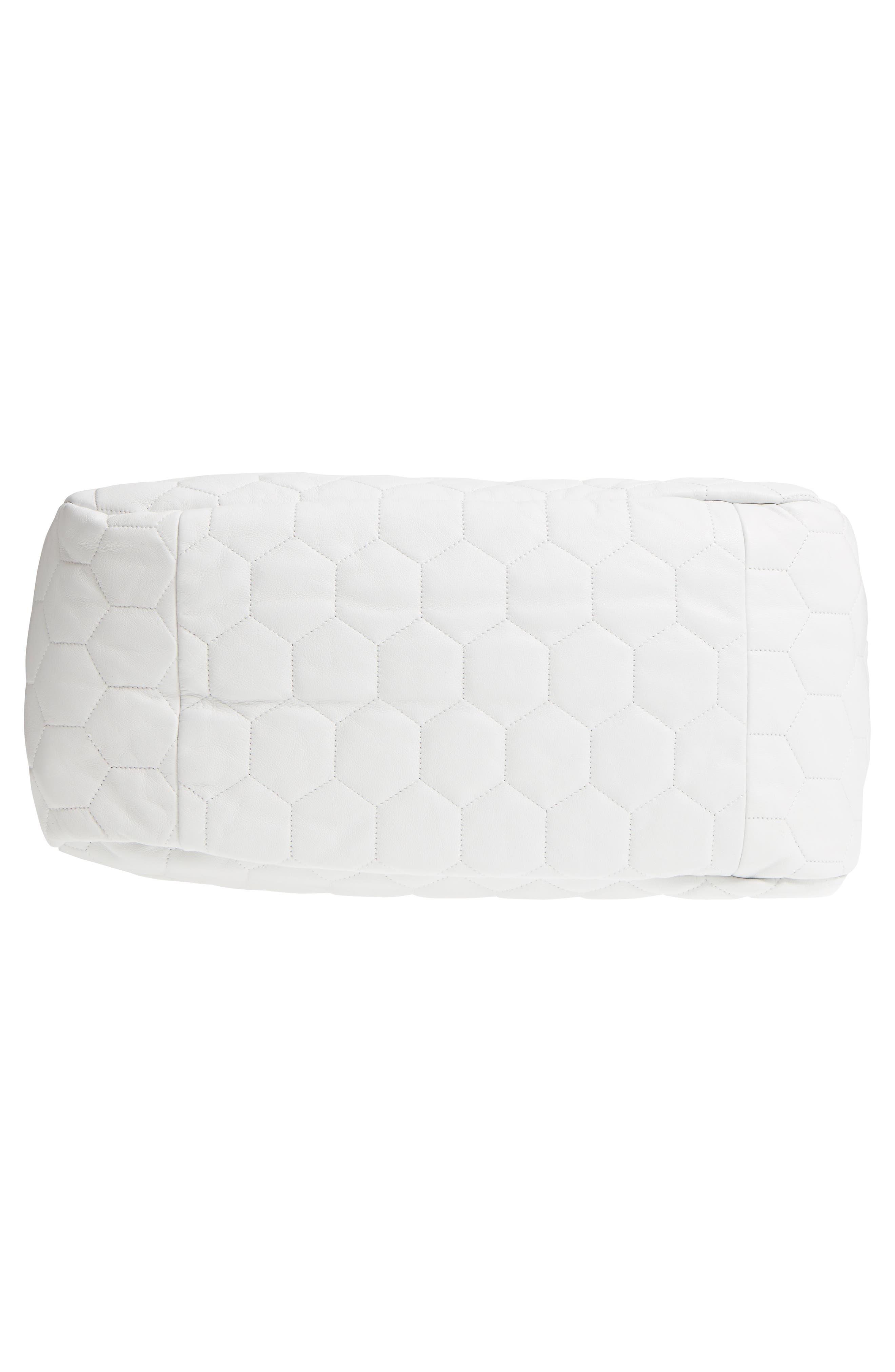 Balloon Leather Shoulder Bag,                             Alternate thumbnail 6, color,                             White