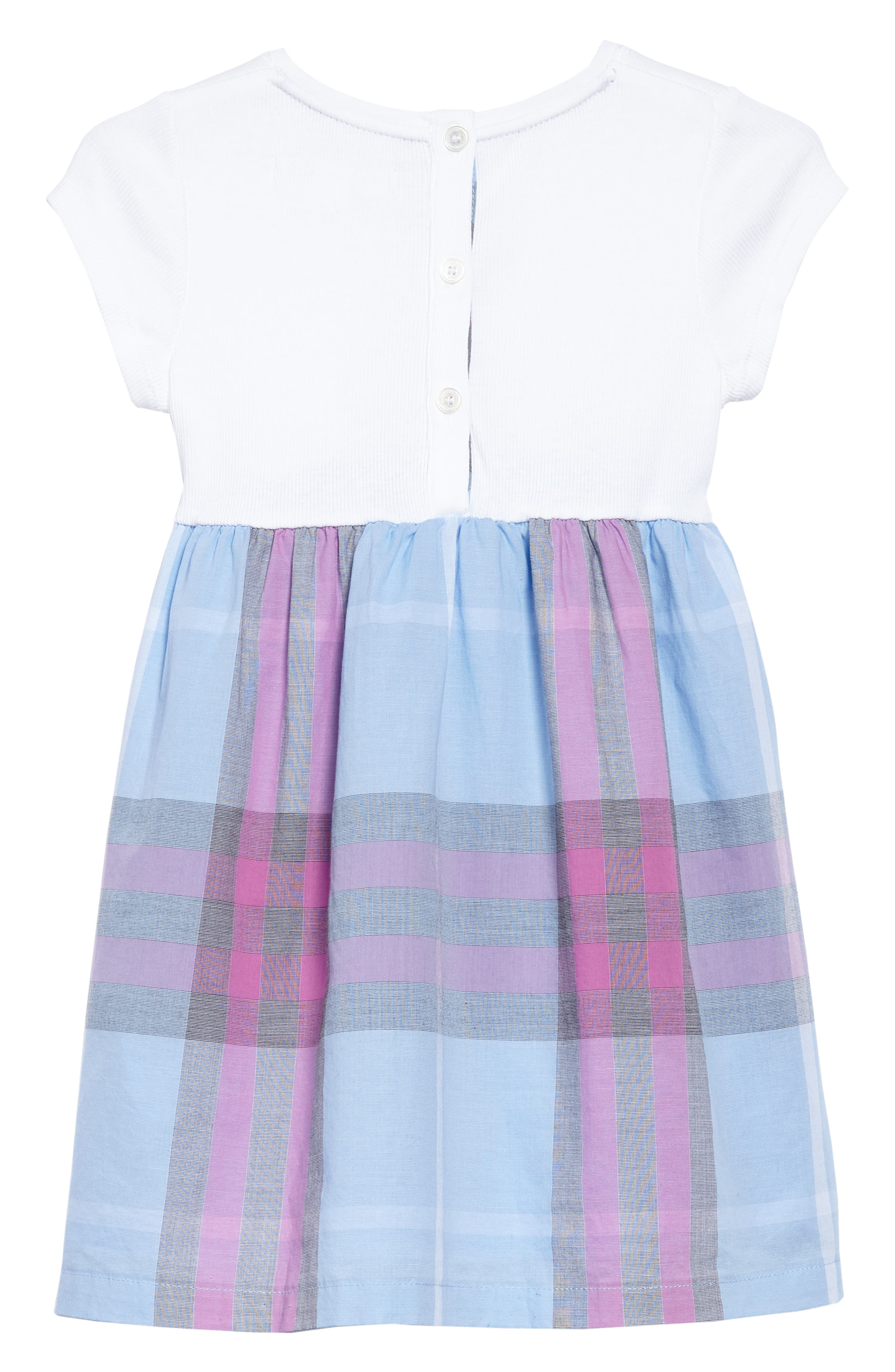 Rosey Check Dress,                             Alternate thumbnail 2, color,                             Chalk Blue