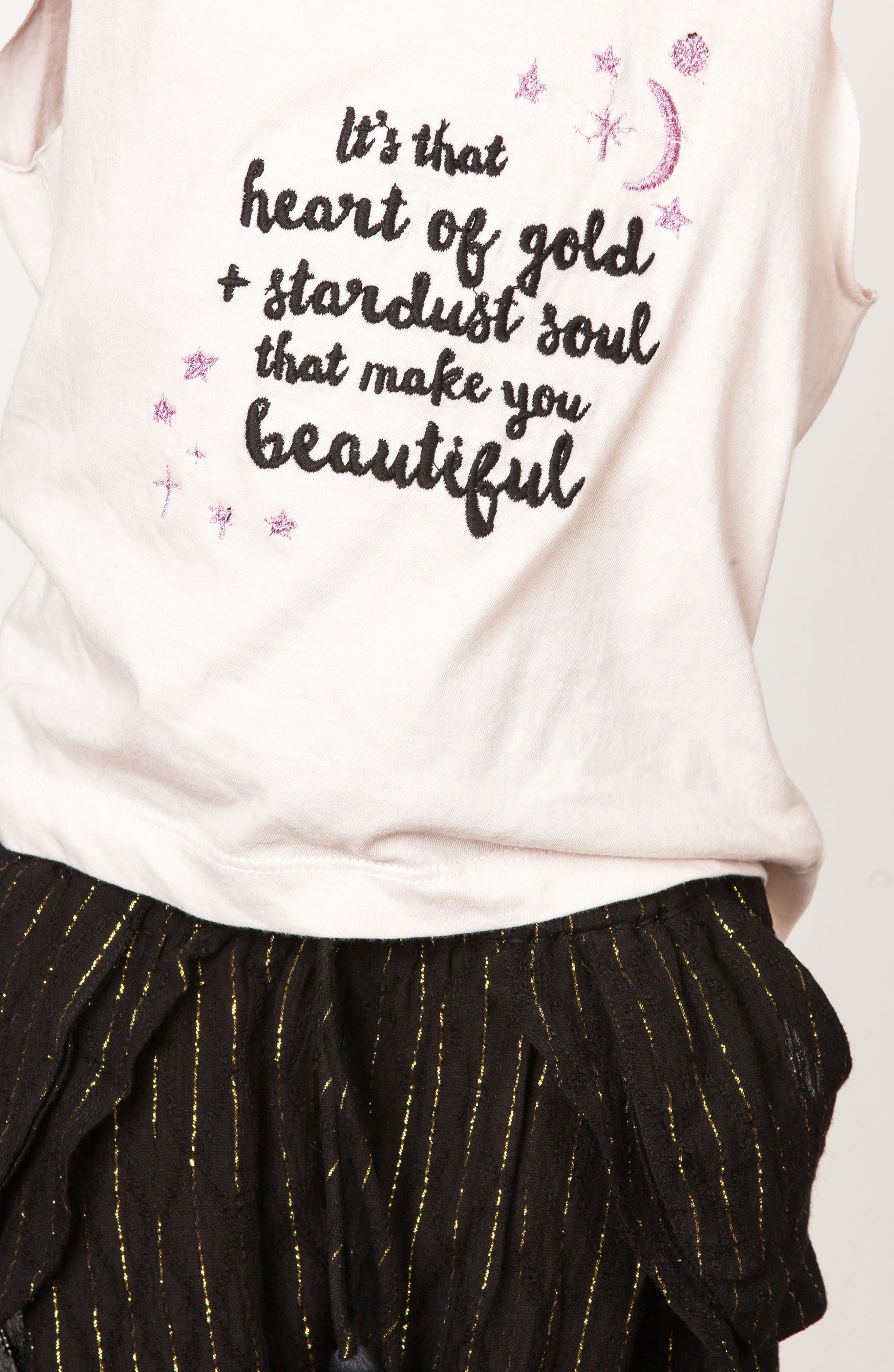 Embroidered Cotton Tank,                             Alternate thumbnail 3, color,                             Stardust