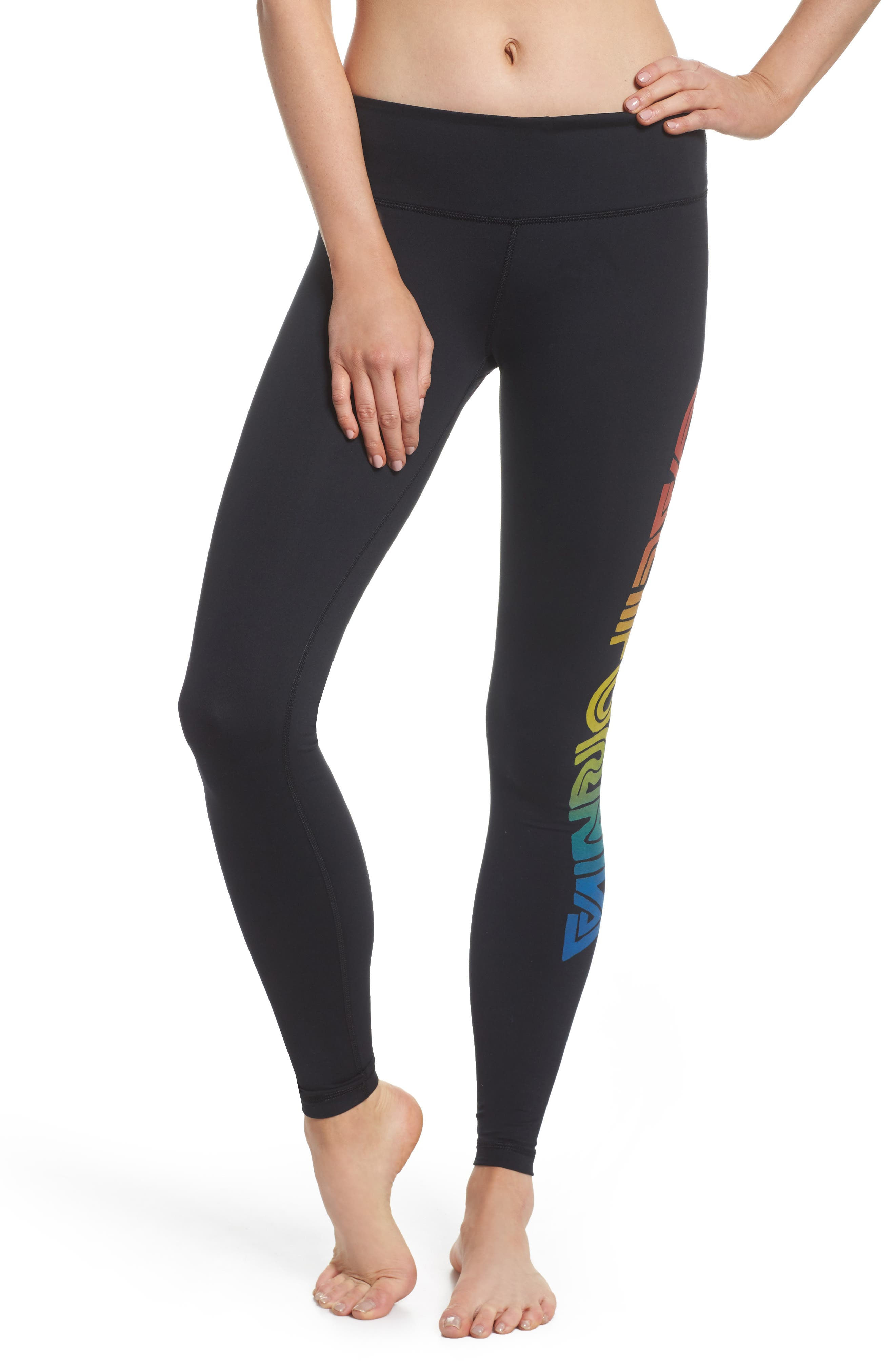 California Leggings,                         Main,                         color, Black/ Rainbow