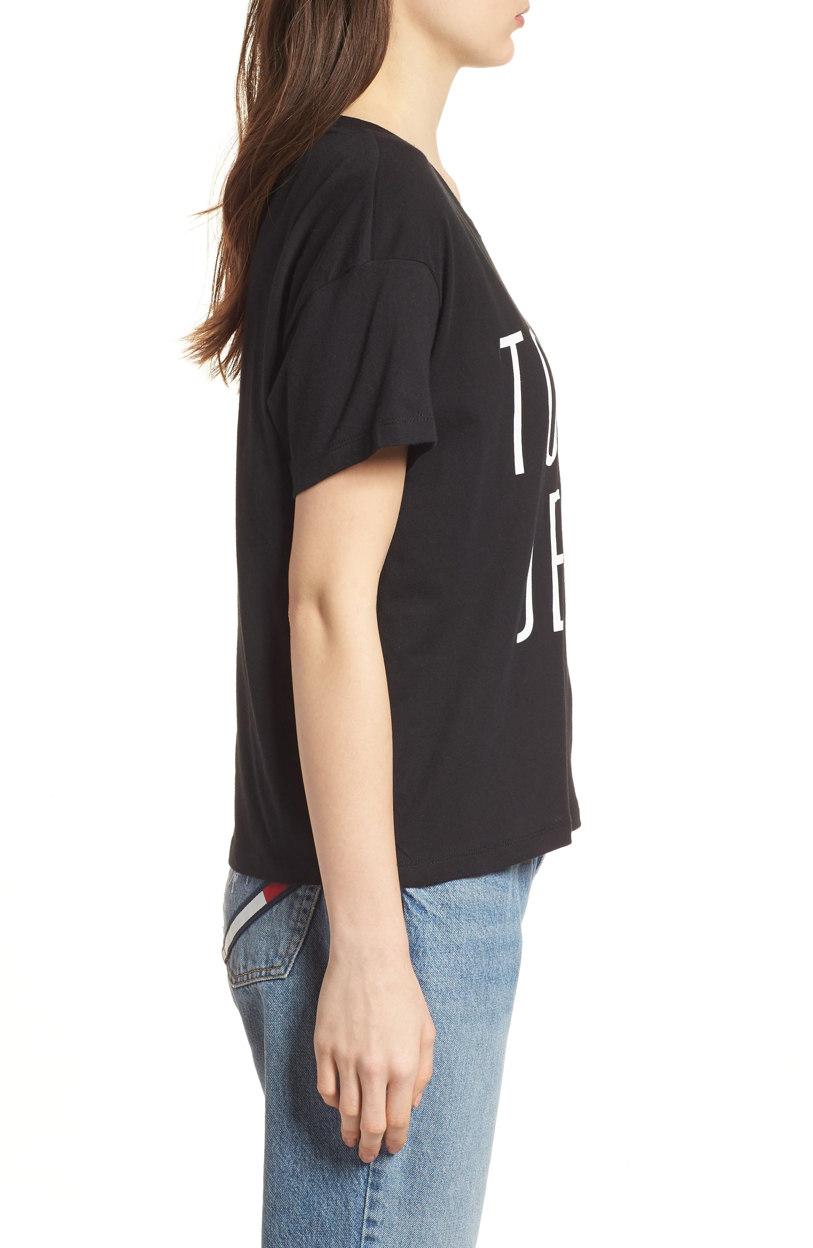 Logo Graphic Tee,                             Alternate thumbnail 3, color,                             Tommy Black