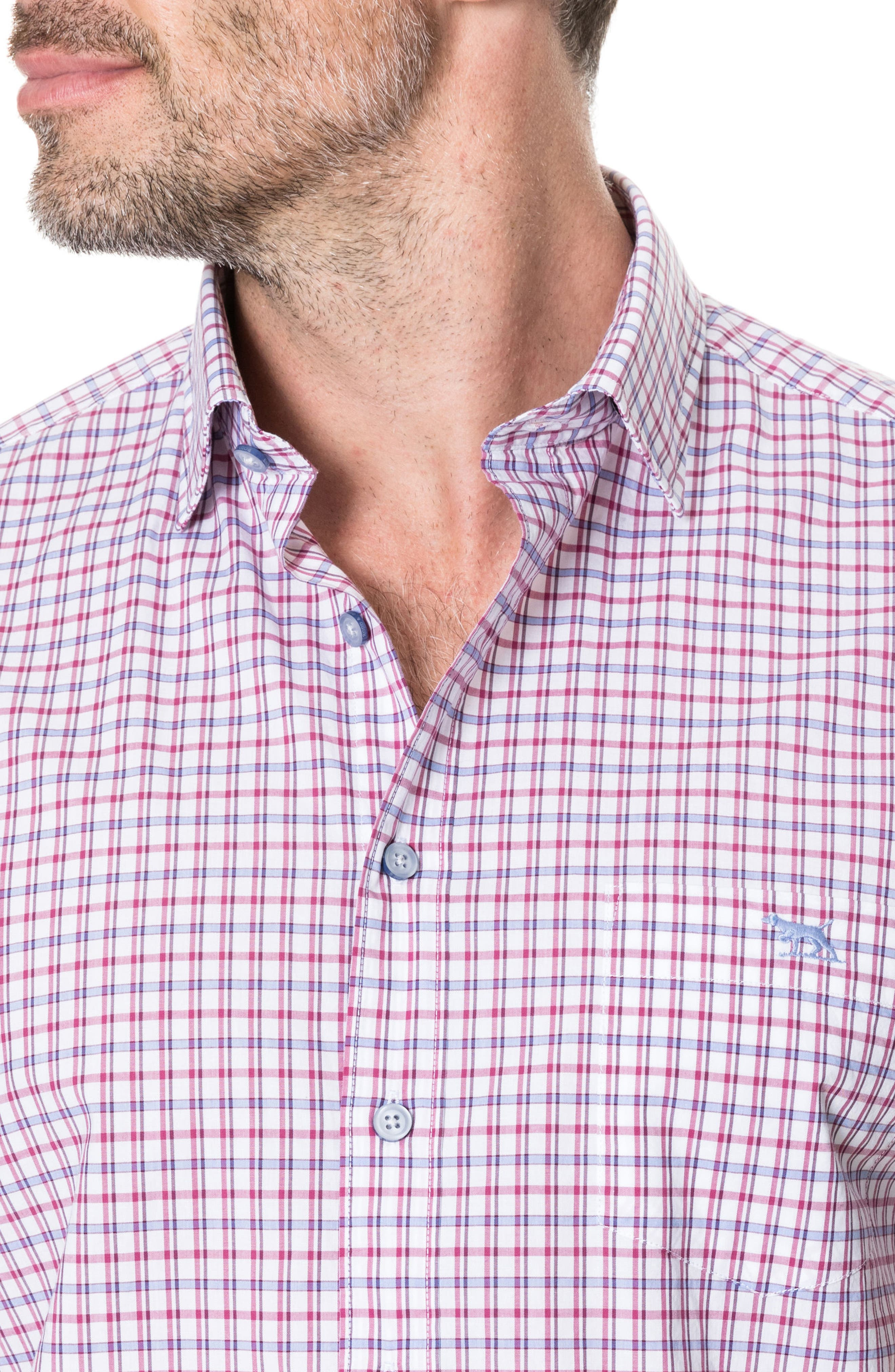 Waterford Regular Fit Sport Shirt,                             Alternate thumbnail 2, color,                             Mulberry