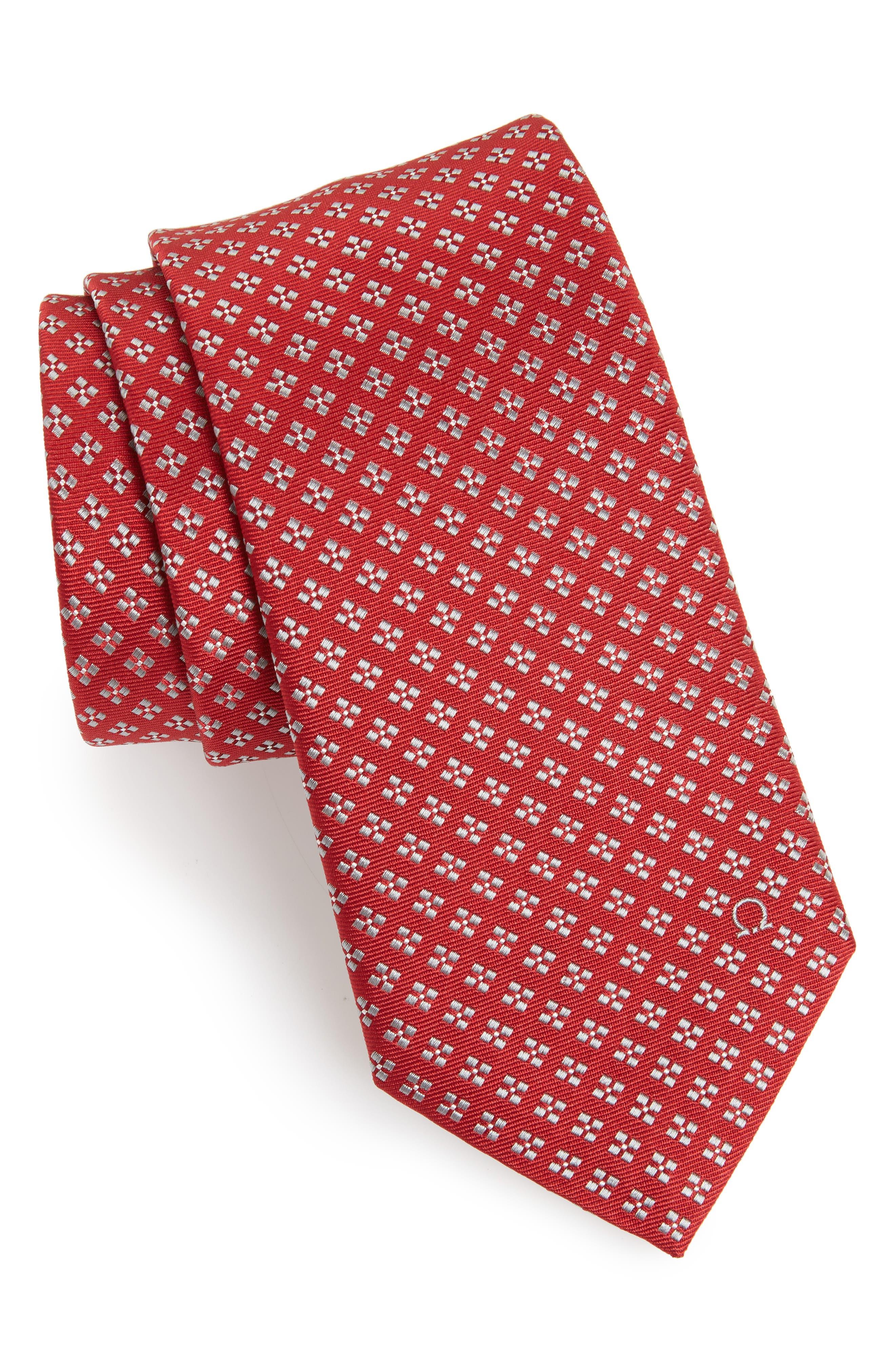 Empol Geometric Silk Tie,                             Main thumbnail 1, color,                             Red