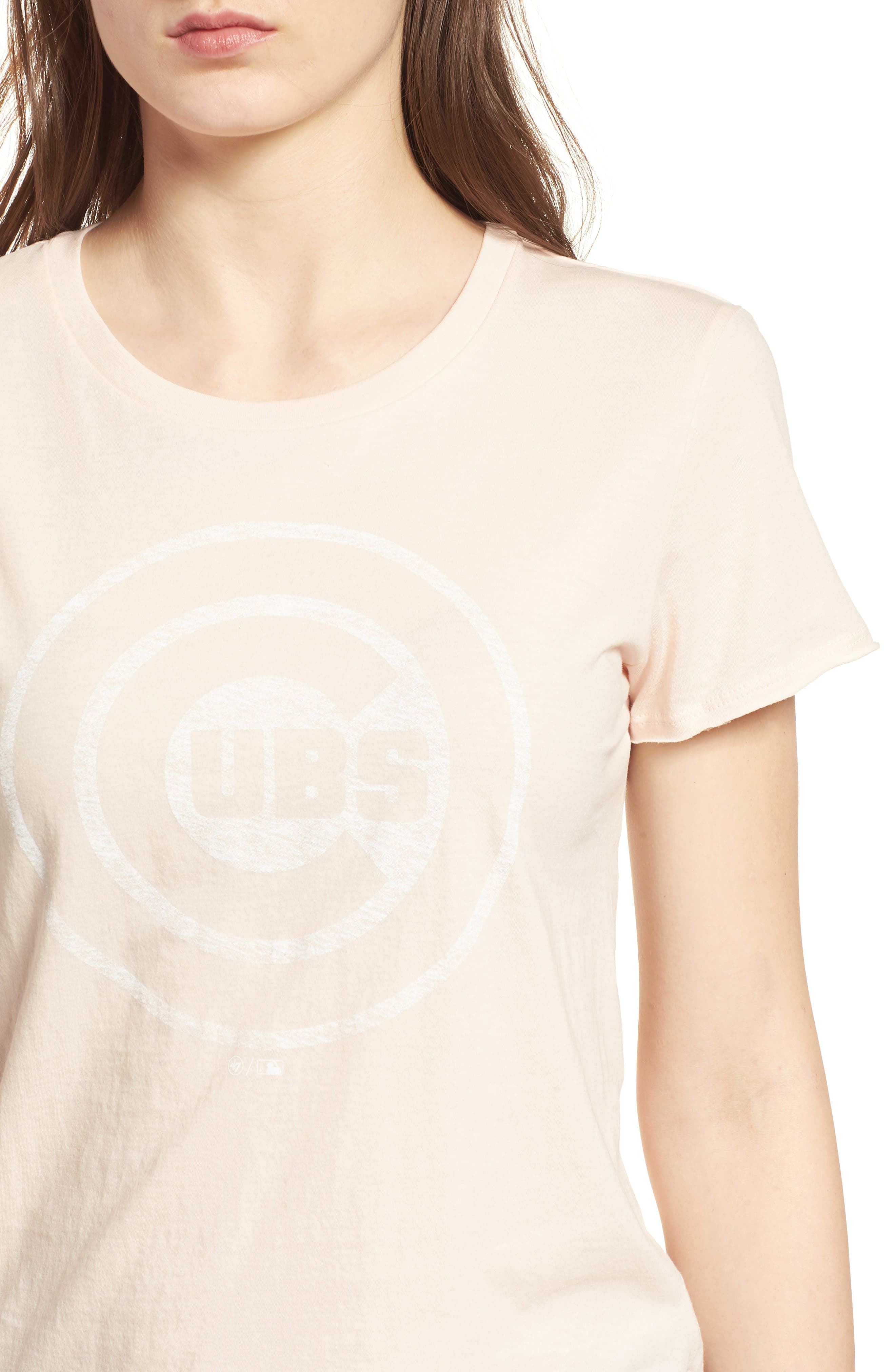 Chicago Cubs Fader Letter Tee,                             Alternate thumbnail 4, color,                             Blush