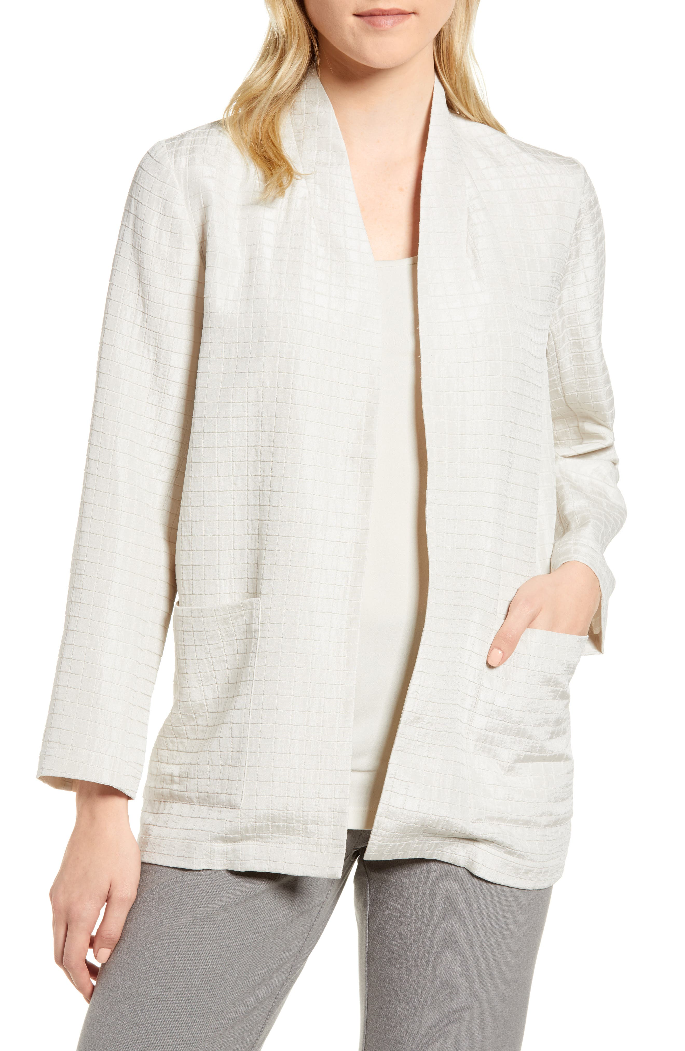 Eileen Fisher Silk Blend Kimono Jacket (Regular & Petite)