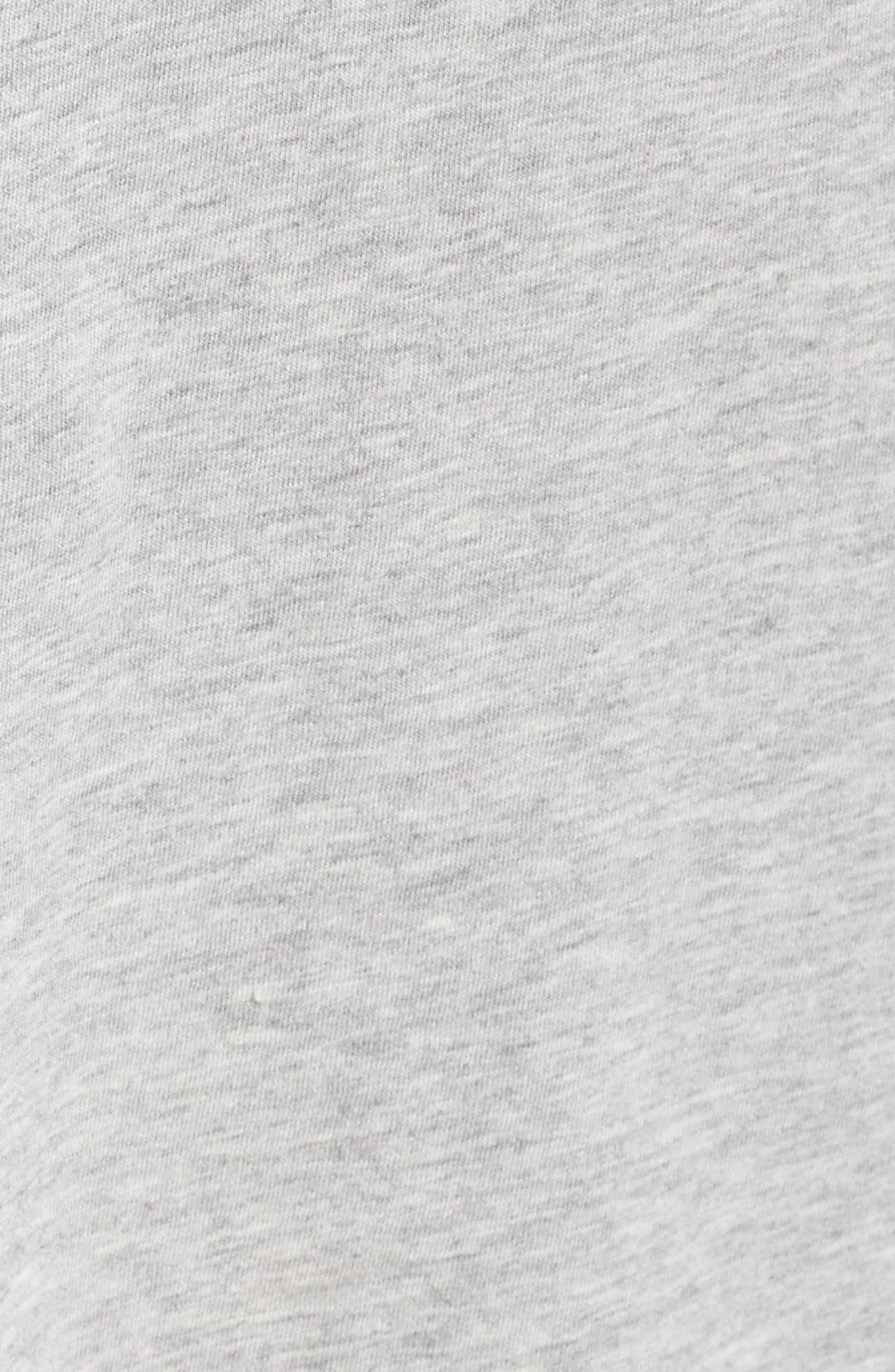 Juno Tie Waist T-Shirt Dress,                             Alternate thumbnail 5, color,                             Heather Grey