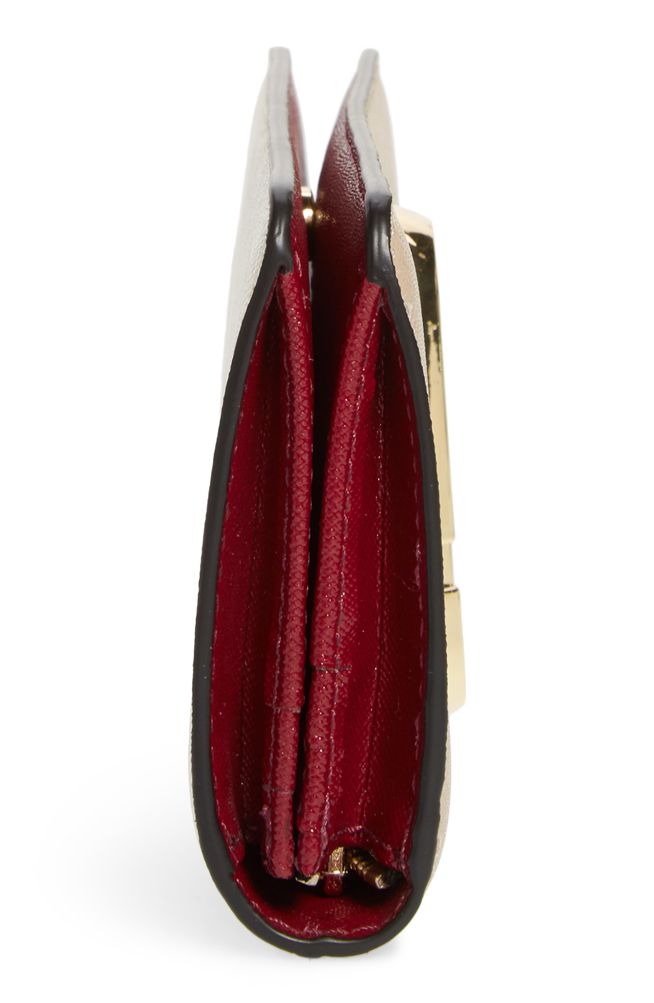 Snapshot Open Face Leather Wallet,                             Alternate thumbnail 5, color,                             Light Slate Multi