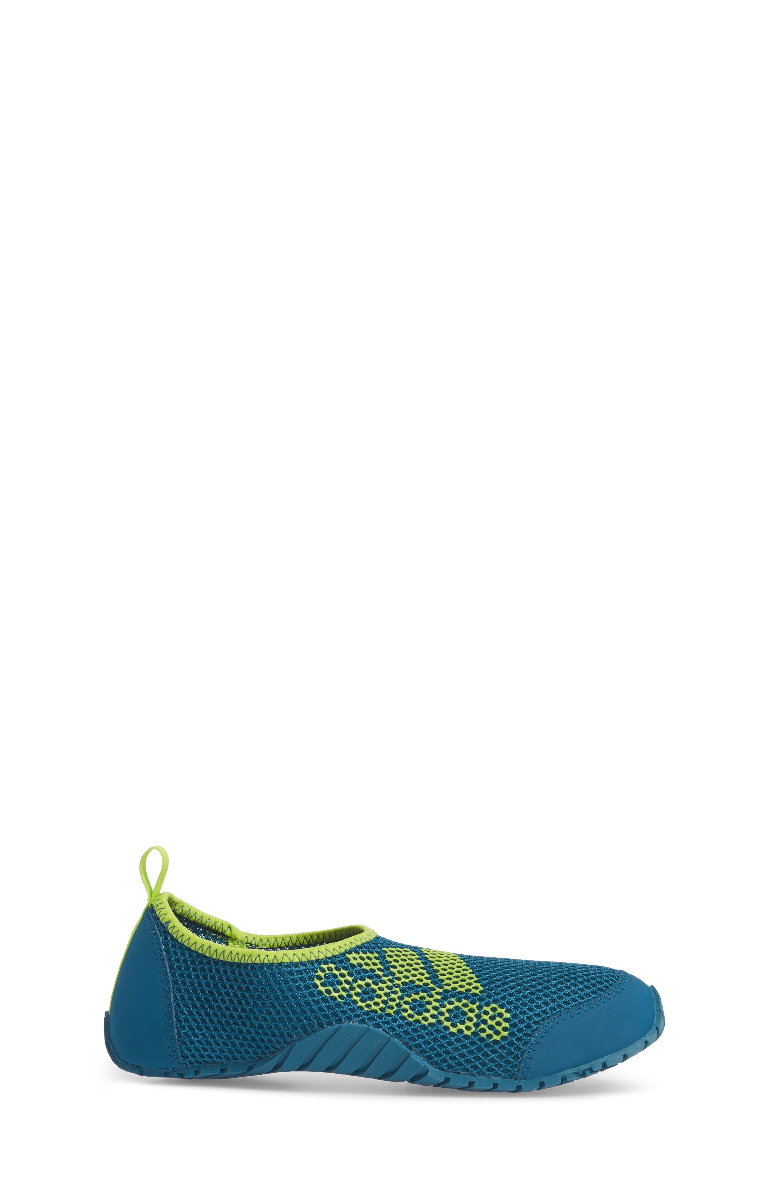 Kurobe Mesh Slip-On Water Shoe,                             Alternate thumbnail 3, color,                             Teal/ Petrol Night/ Solar