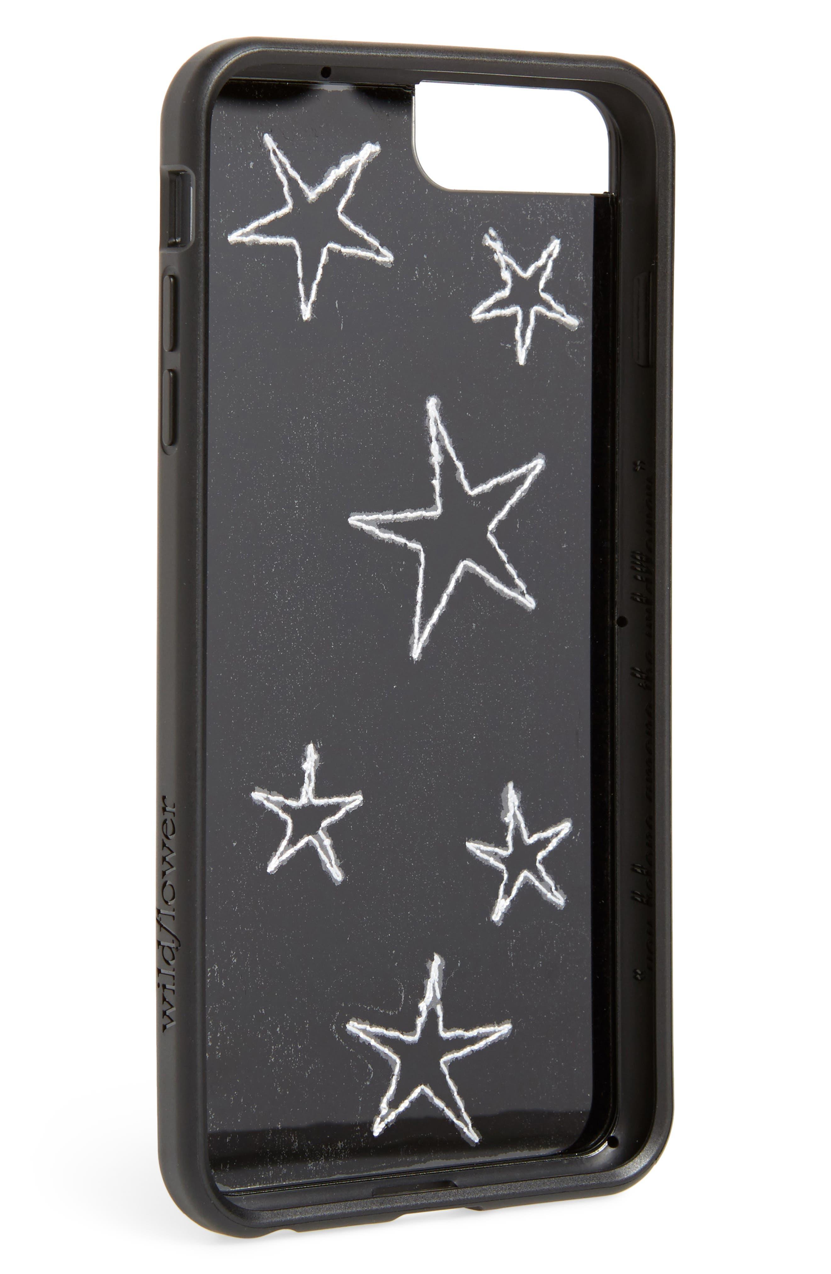 Velvet Stars iPhone 6/7/8 Plus Phone Case,                             Alternate thumbnail 2, color,                             Black Multi