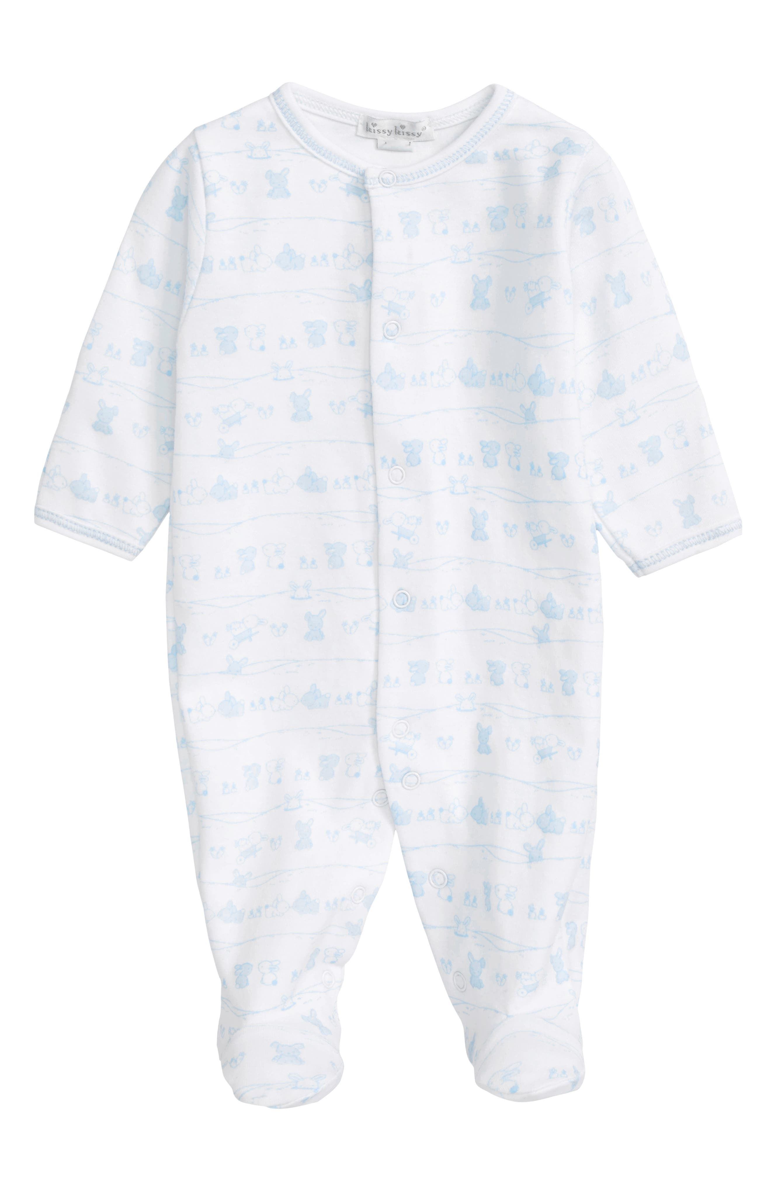 Kissy Kissy Bunny Tails Pima Cotton Footie (Baby Boys)