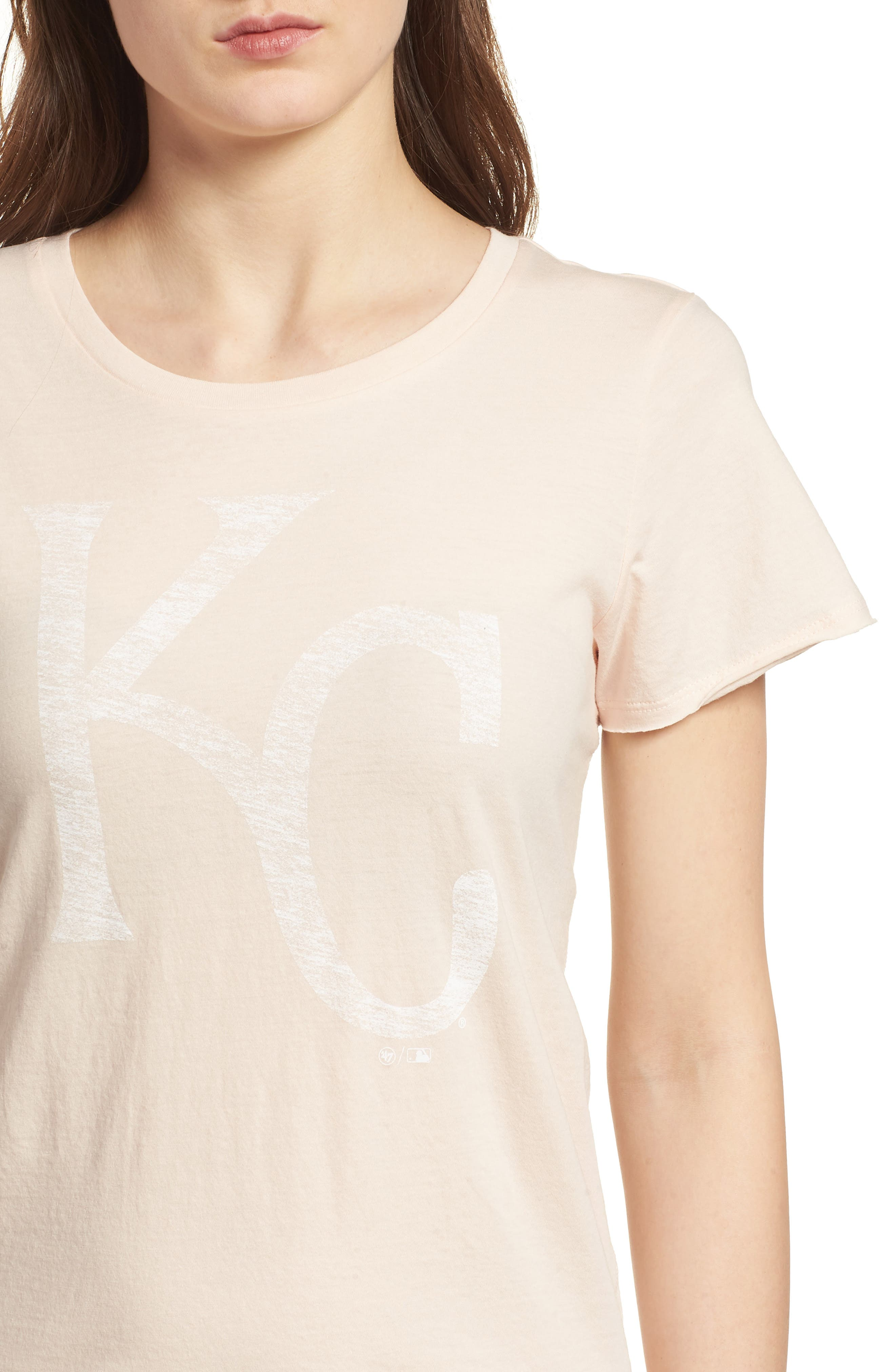Kansas City Royals Fader Letter Tee,                             Alternate thumbnail 4, color,                             Blush