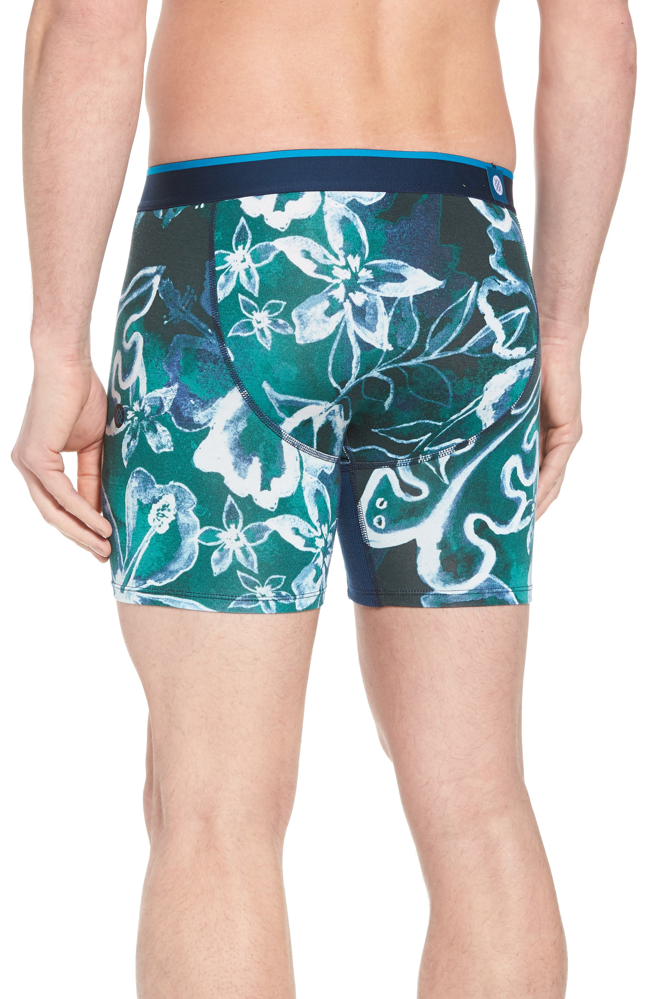 Oxidized Floral Boxer Briefs,                             Alternate thumbnail 4, color,                             Green