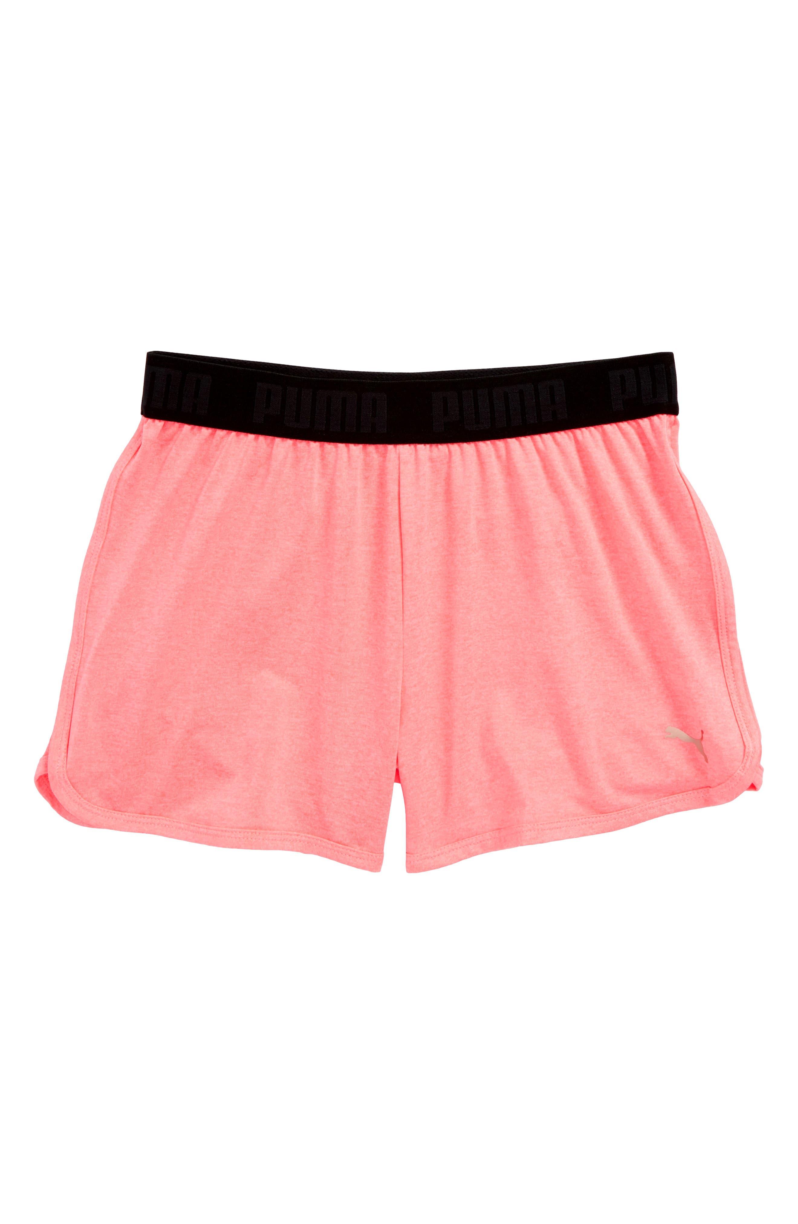 Logo Sport Shorts,                             Main thumbnail 1, color,                             Soft Flu Peach Heather