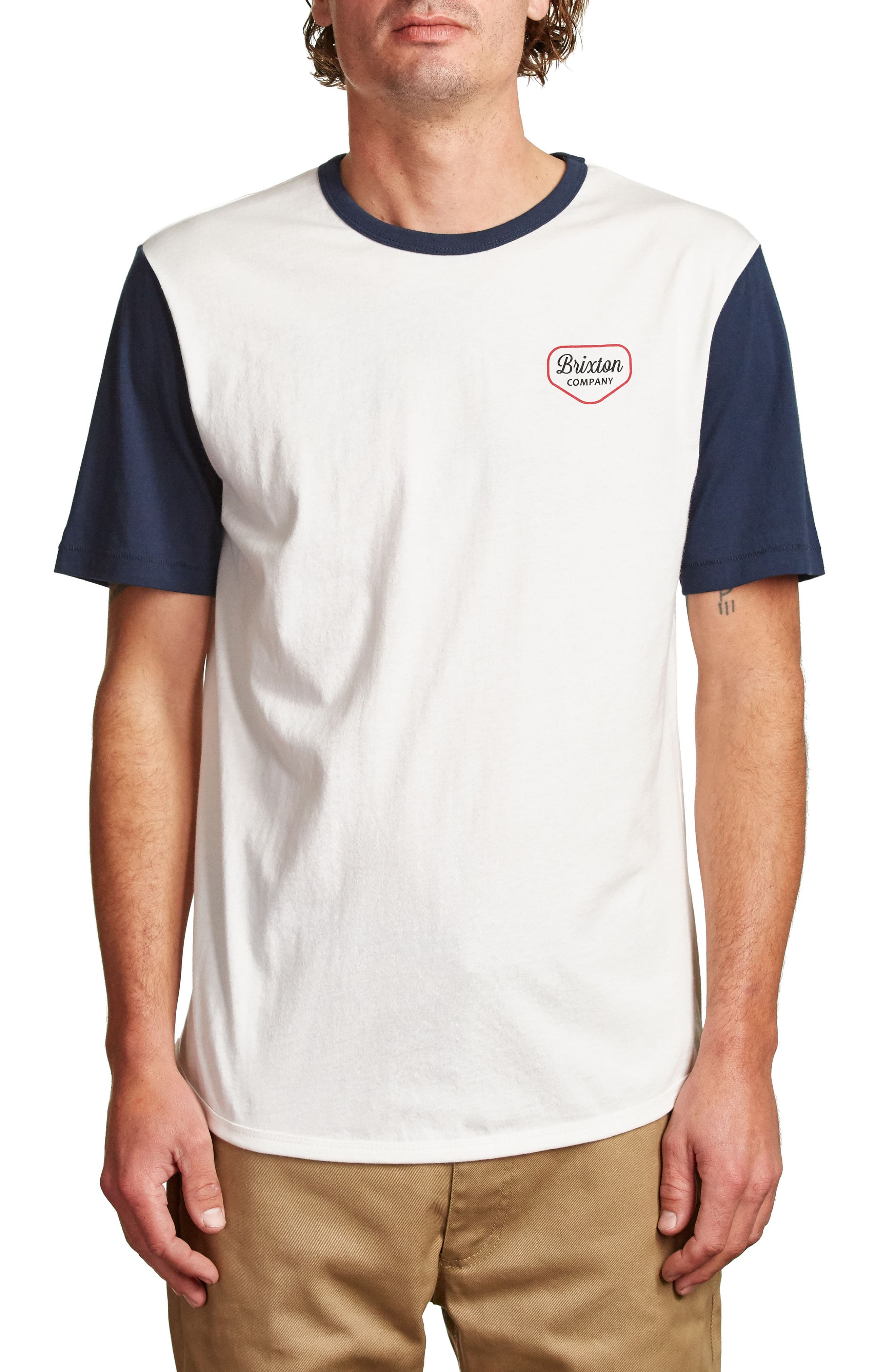 Novato T-Shirt,                             Main thumbnail 1, color,                             Off White/ Navy