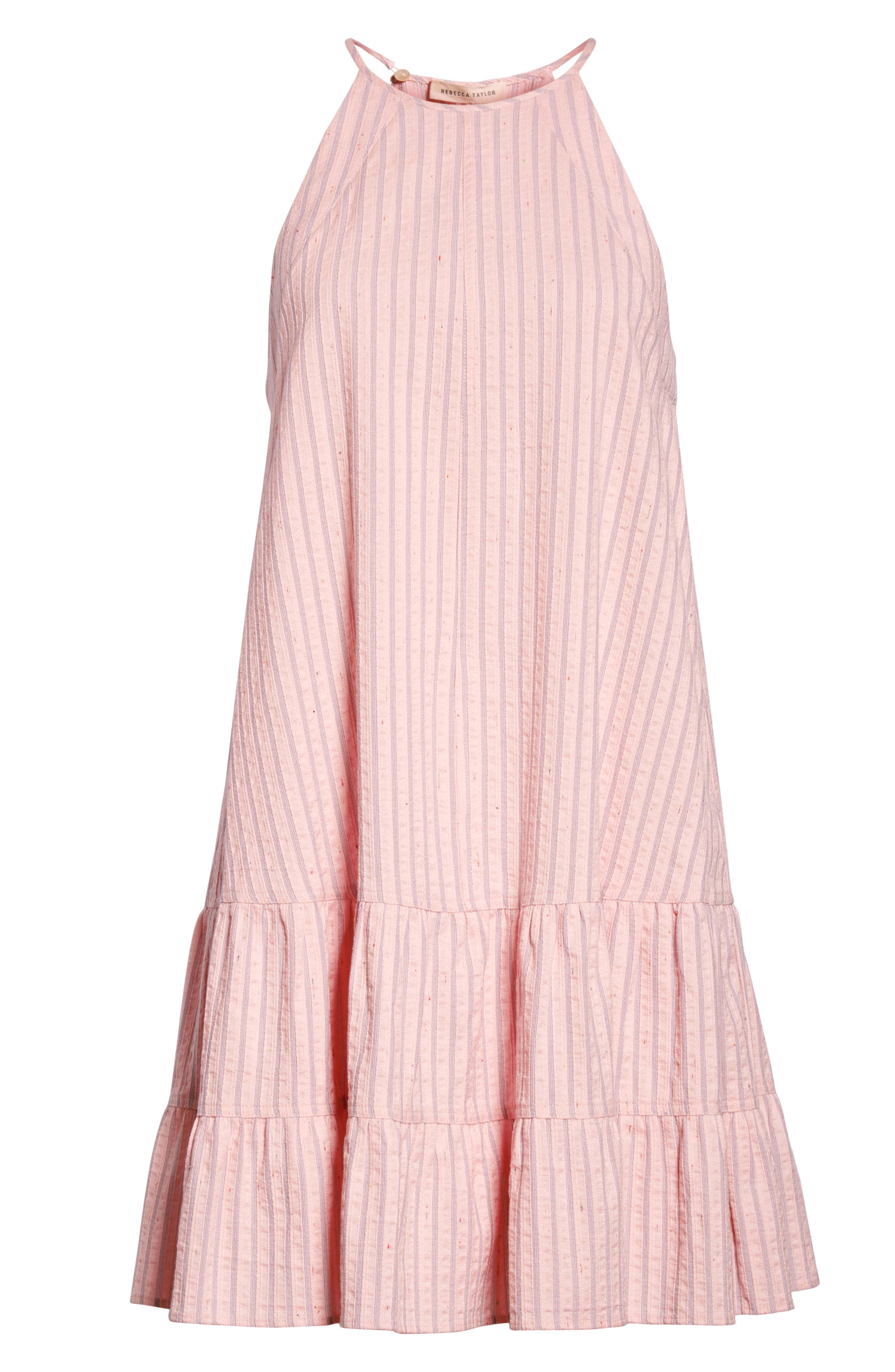 Sleeveless Stripe Tank Dress,                             Alternate thumbnail 6, color,                             Candy Floss Combo