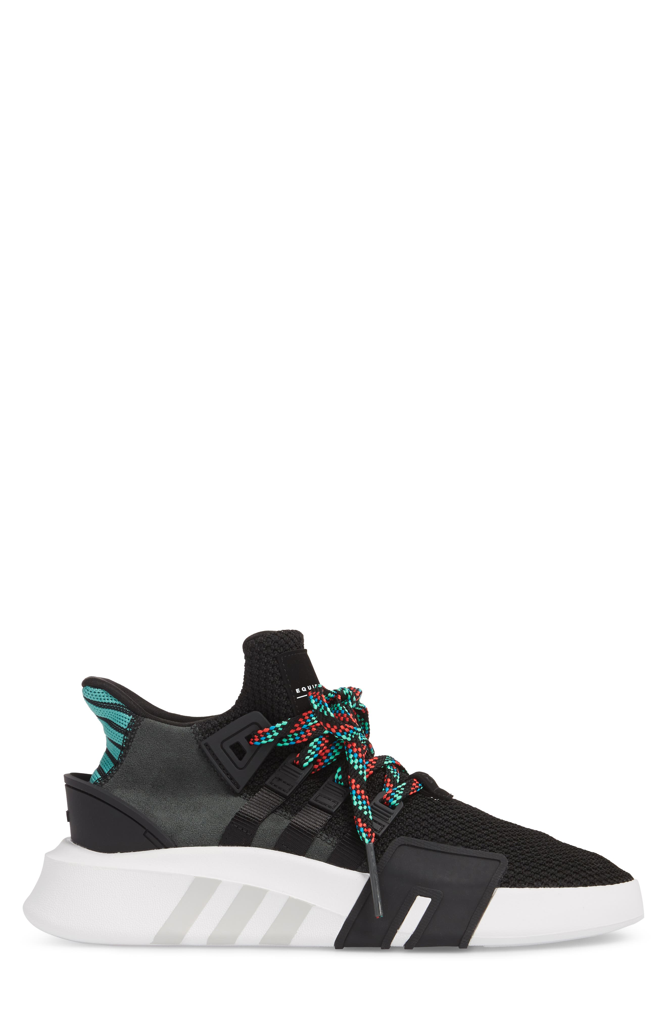EQT Basketball ADV Sneaker,                             Alternate thumbnail 3, color,                             Core Black/ Sub Green