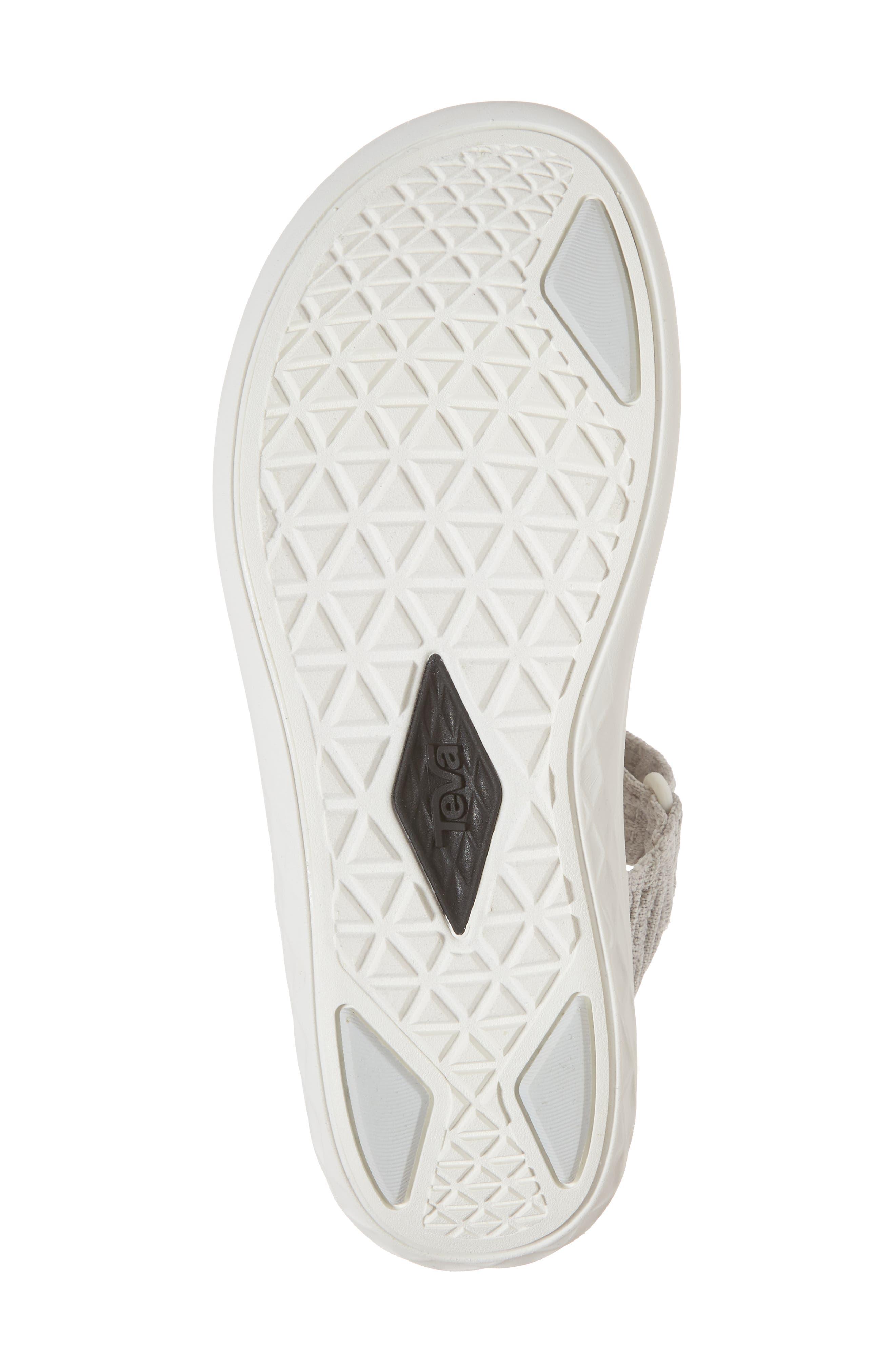 Terra Float 2 Knit Universal Sandal,                             Alternate thumbnail 6, color,                             Bright White Fabric