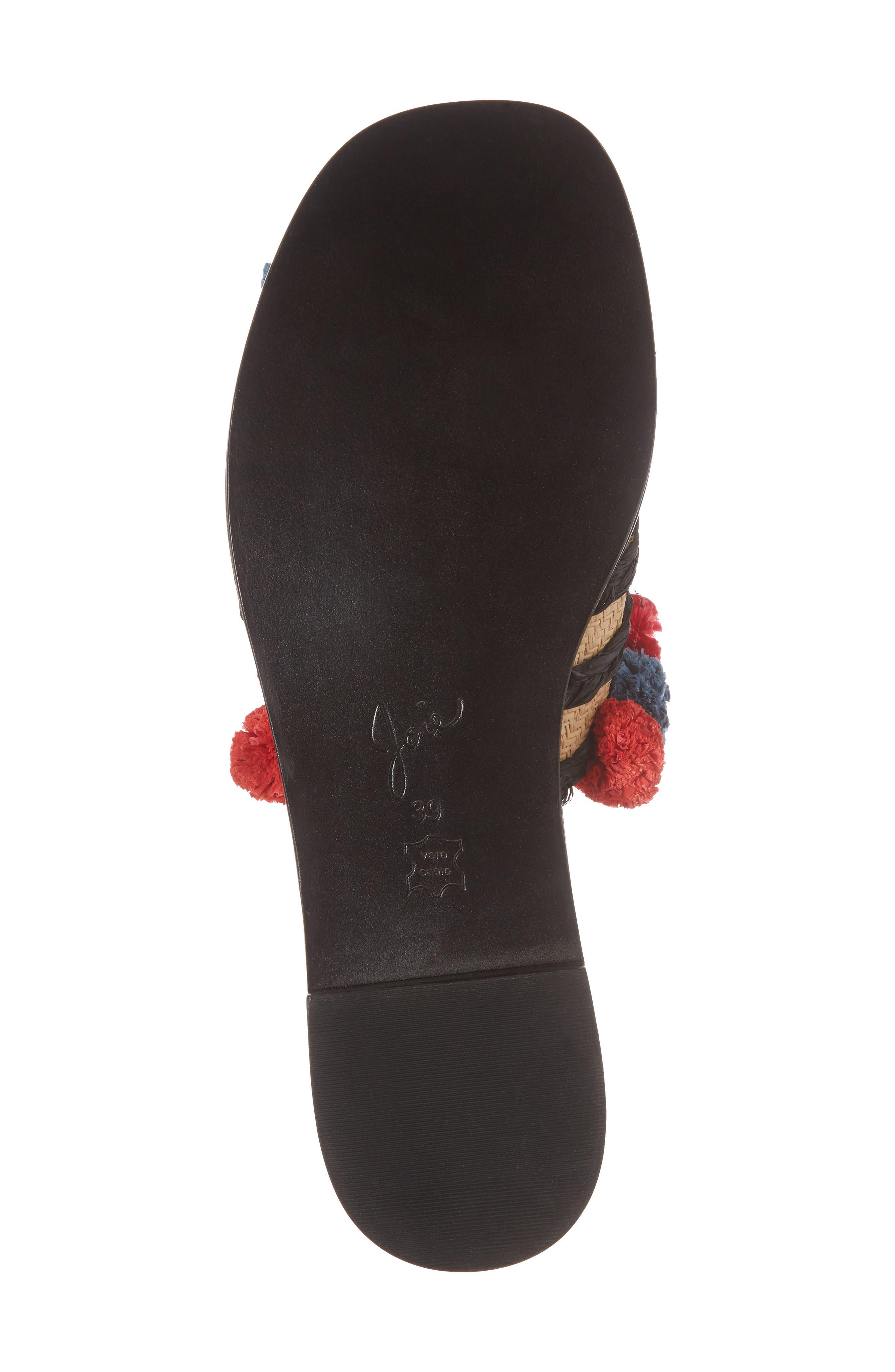 Paden Pompom Slide Sandals,                             Alternate thumbnail 6, color,                             Multi