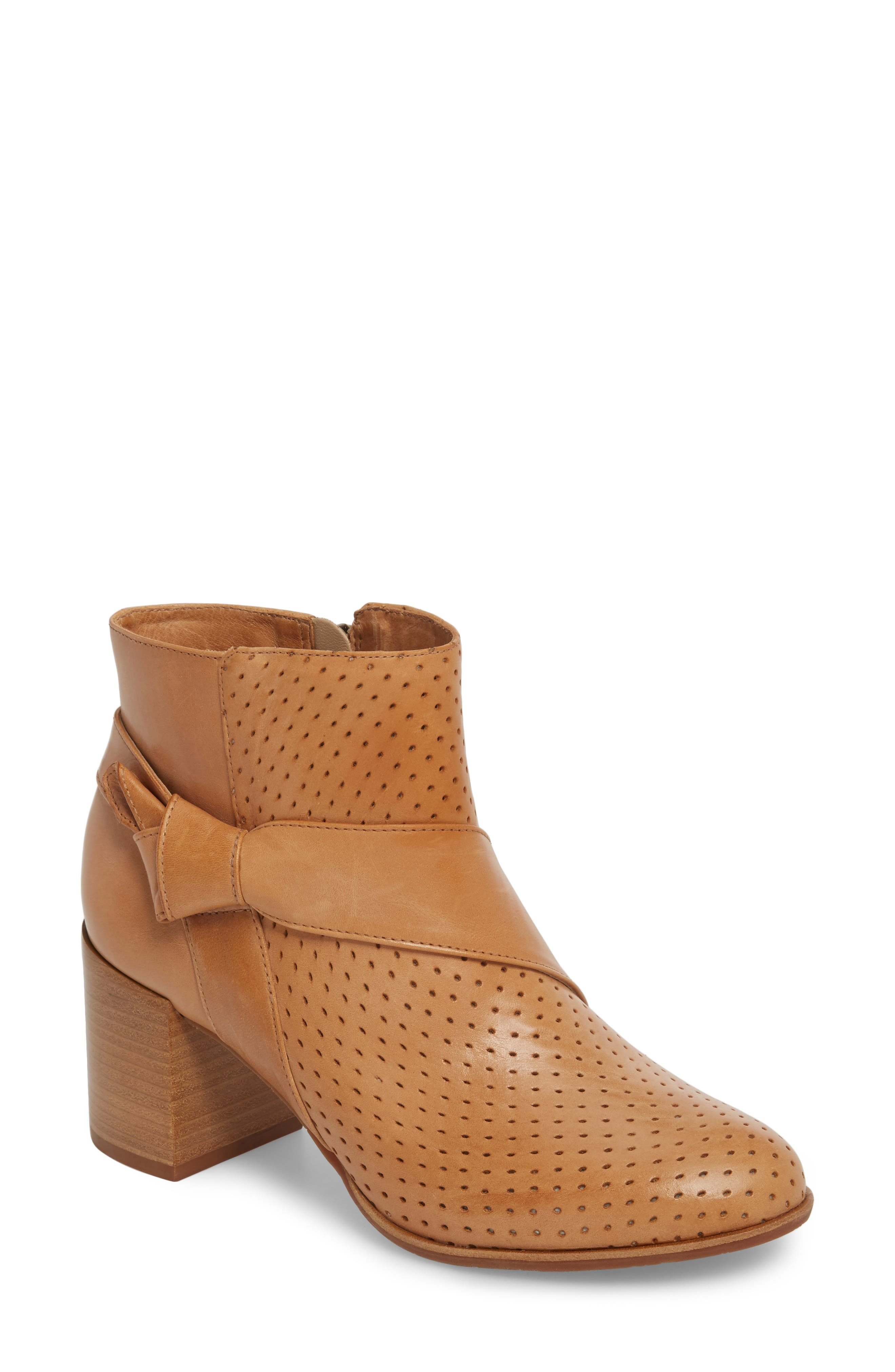 Felice Bootie,                             Main thumbnail 1, color,                             Tan Leather