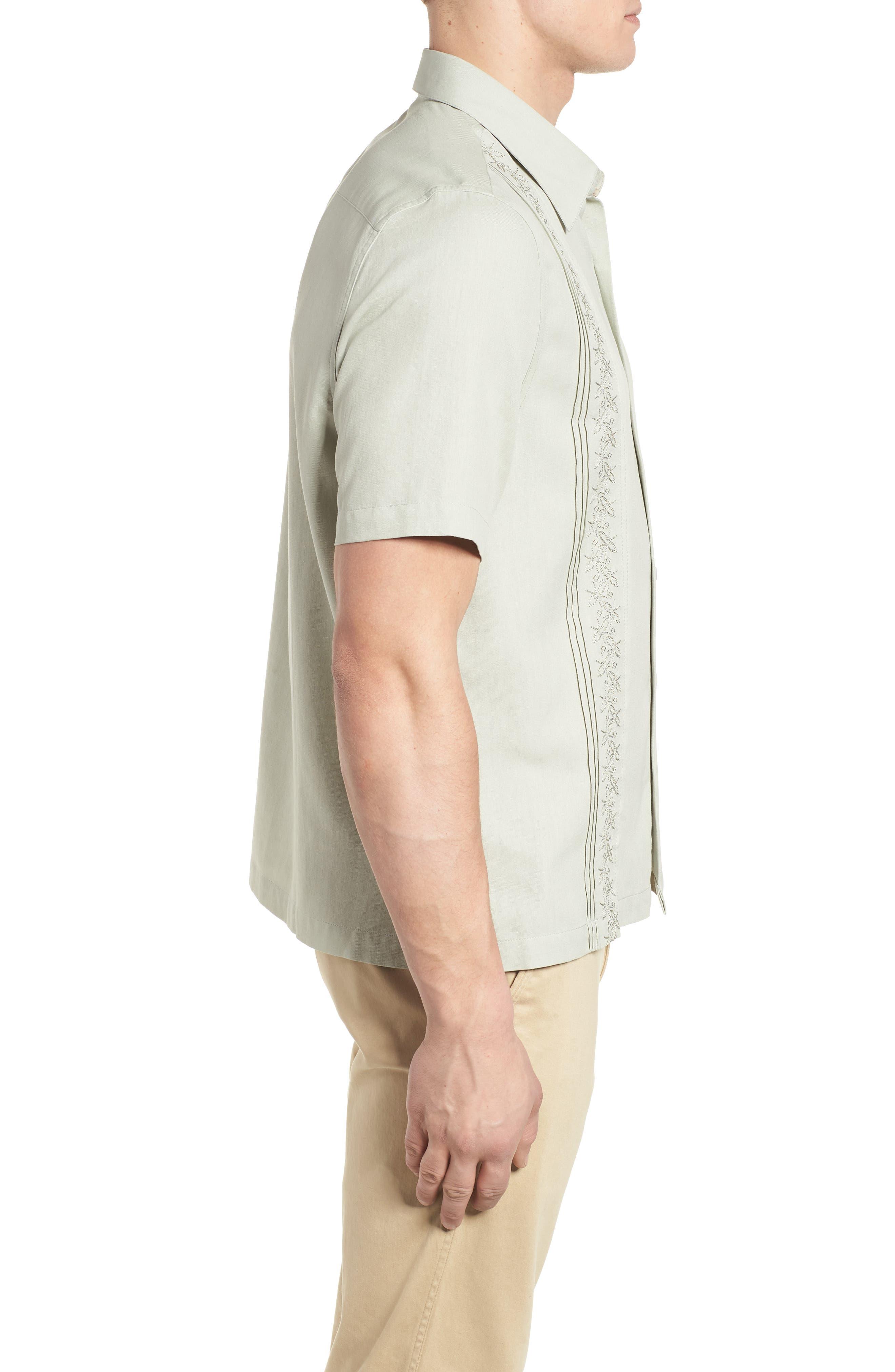 La Fleur Camp Shirt,                             Alternate thumbnail 3, color,                             Carbon