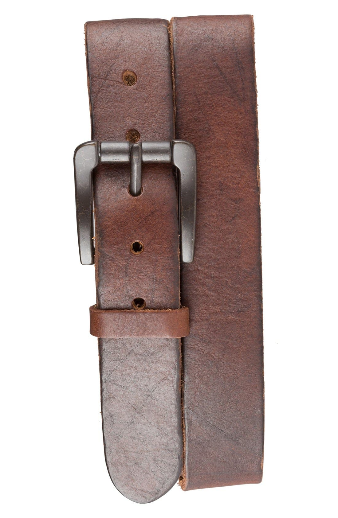 Alternate Image 1 Selected - Bill Adler 1981 Vintage Leather Belt