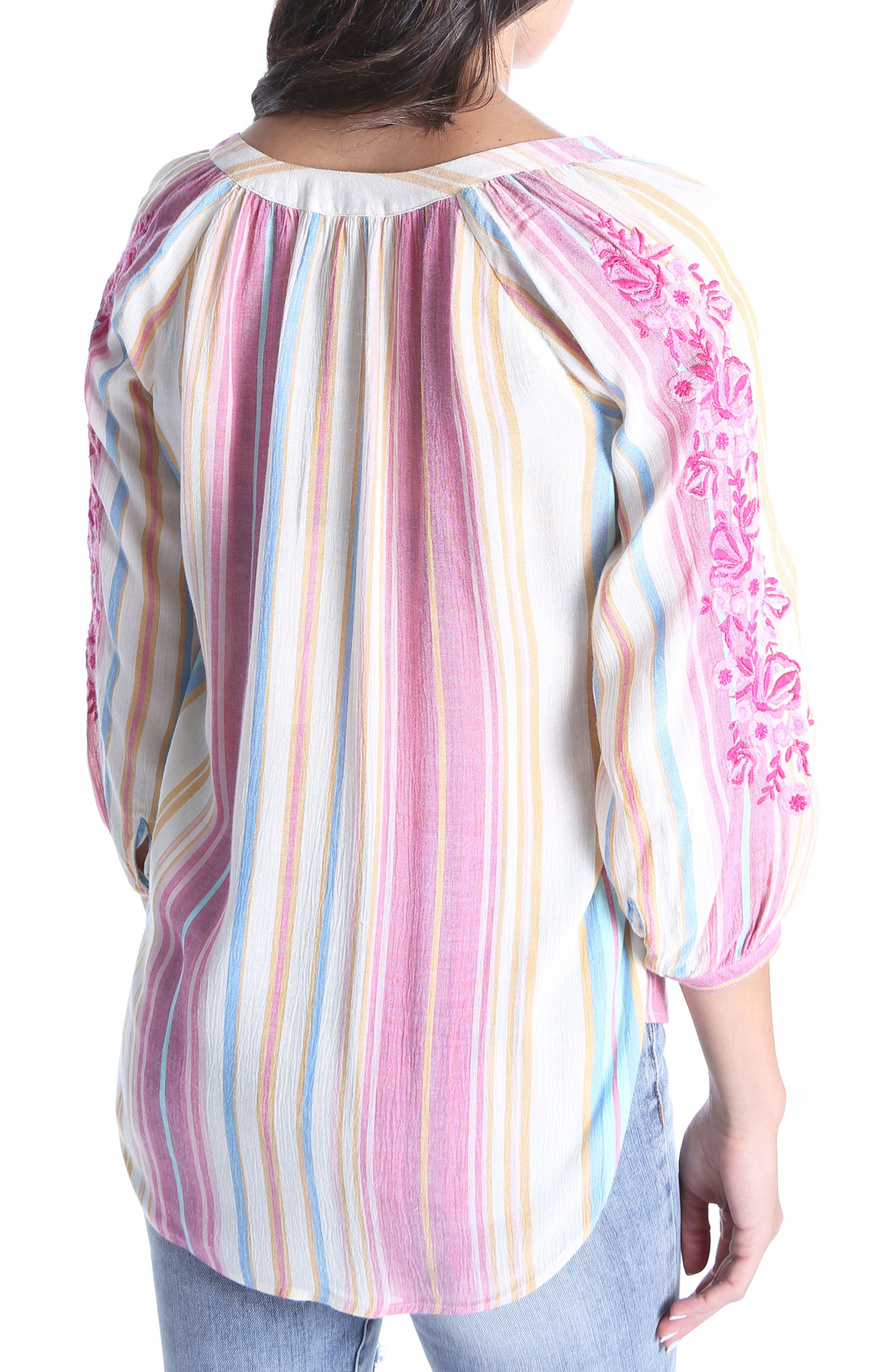Iona Embroidered Peasant Blouse,                             Alternate thumbnail 2, color,                             Multi
