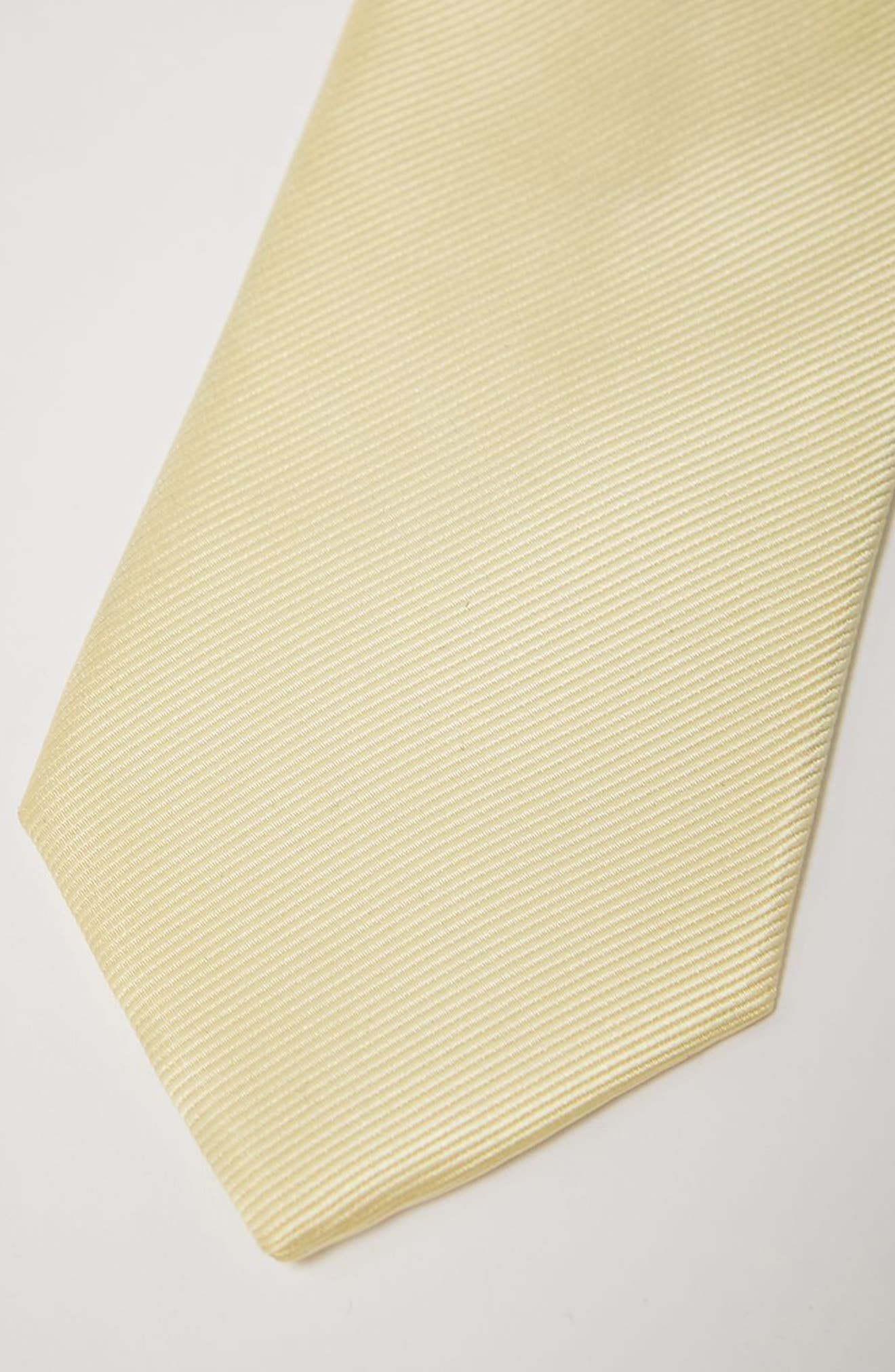 Woven Tie,                             Alternate thumbnail 2, color,                             Yellow