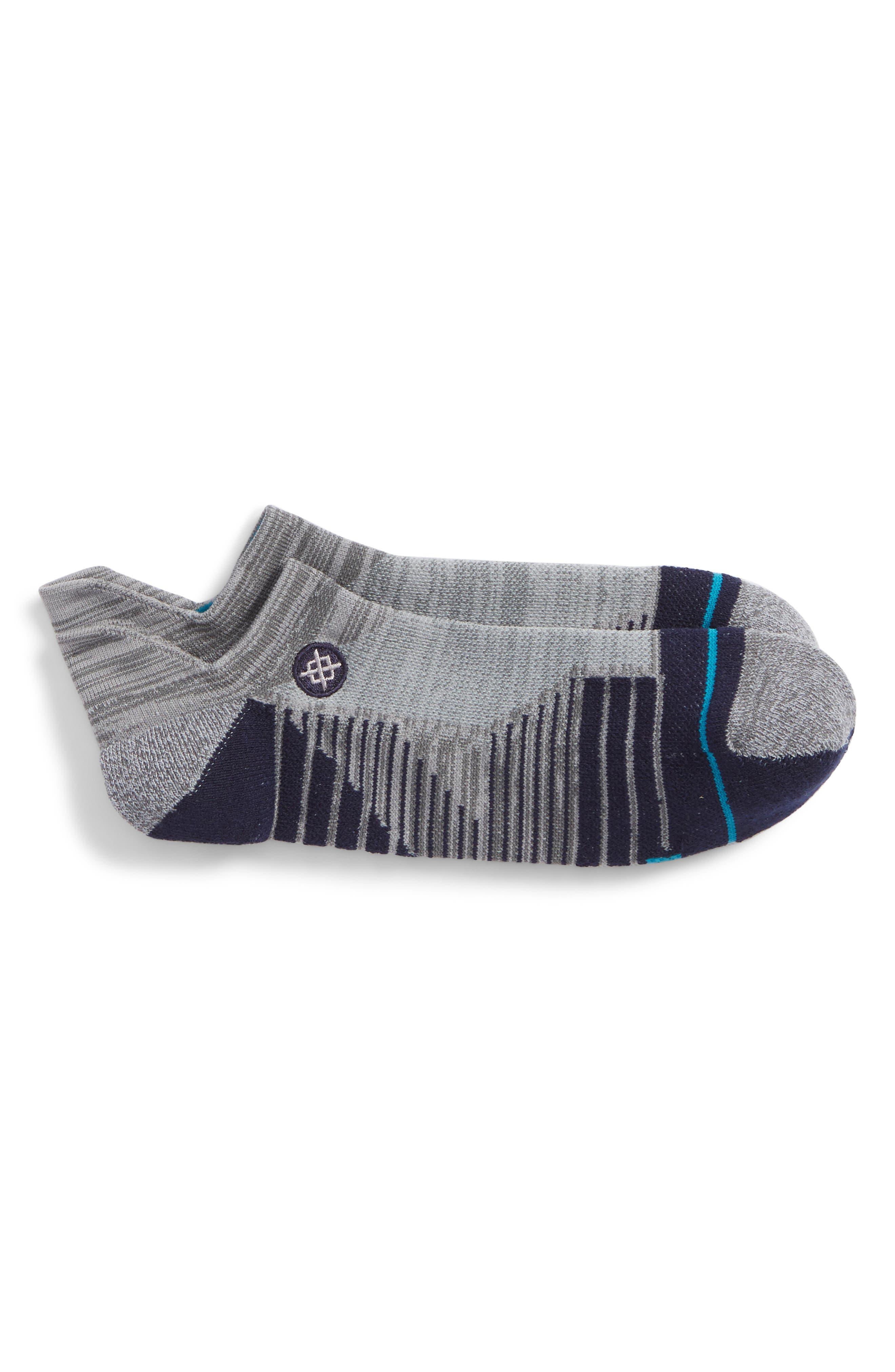 Uncommon Solids Tab Socks,                             Main thumbnail 1, color,                             Charcoal