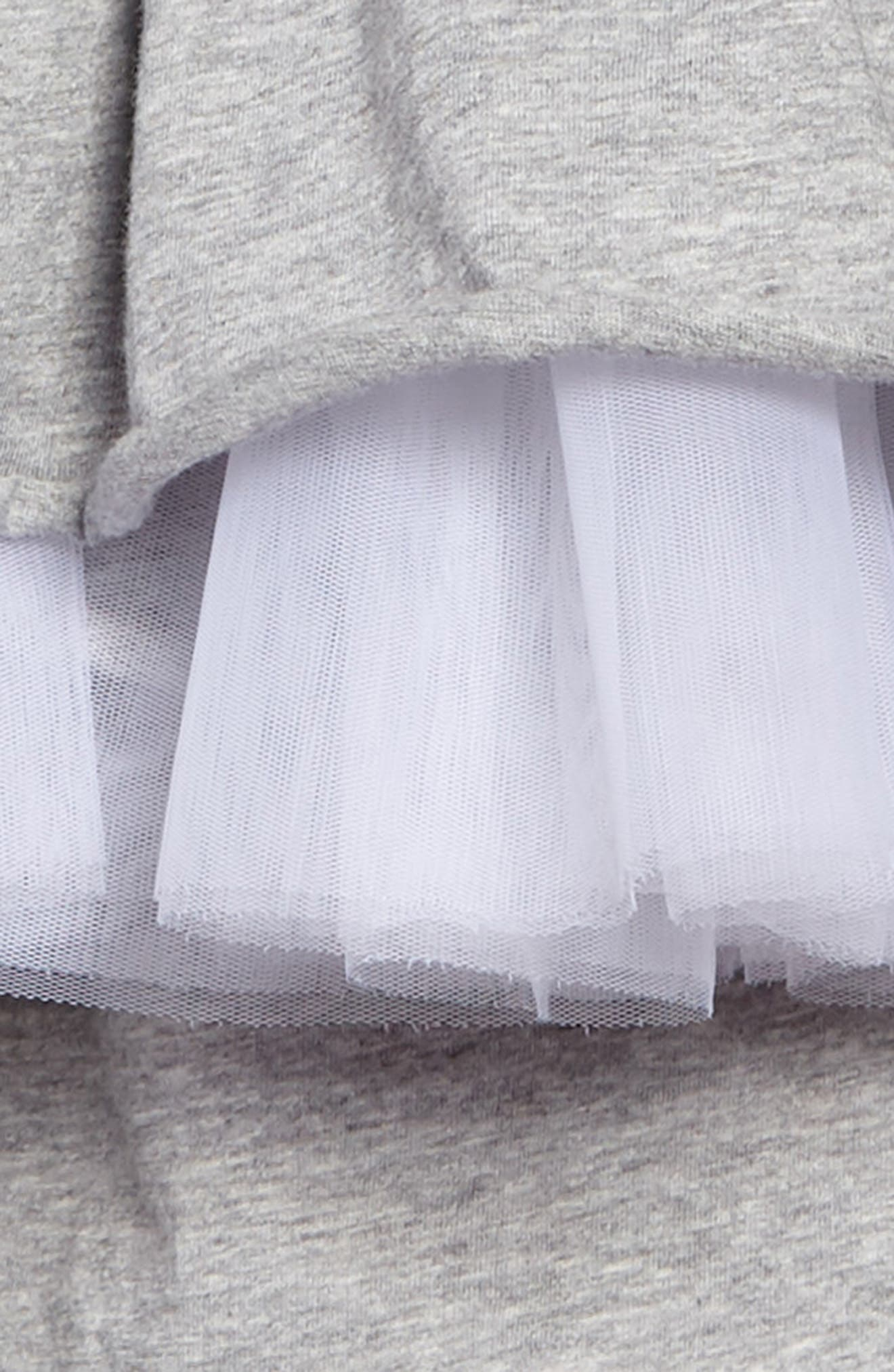 Victorian Tulle Dress,                             Alternate thumbnail 2, color,                             Heather Grey