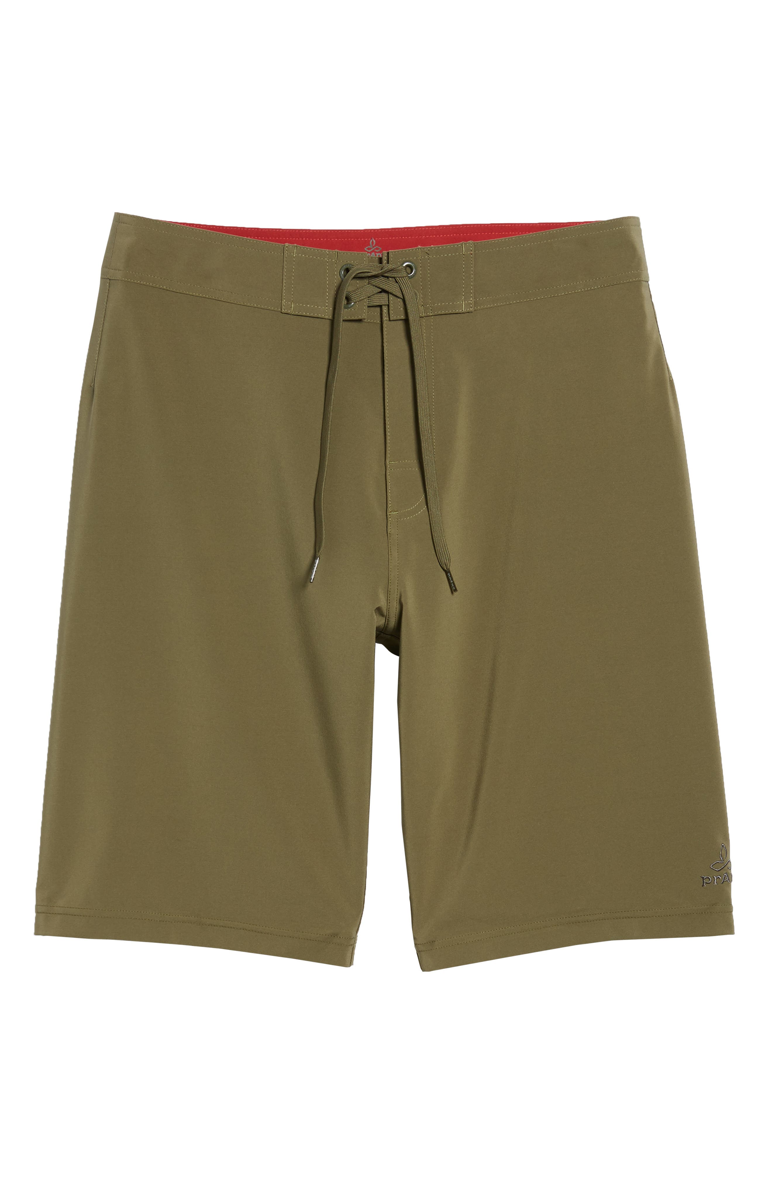 'Sediment' Stretch Board Shorts,                             Main thumbnail 1, color,                             Cargo Green