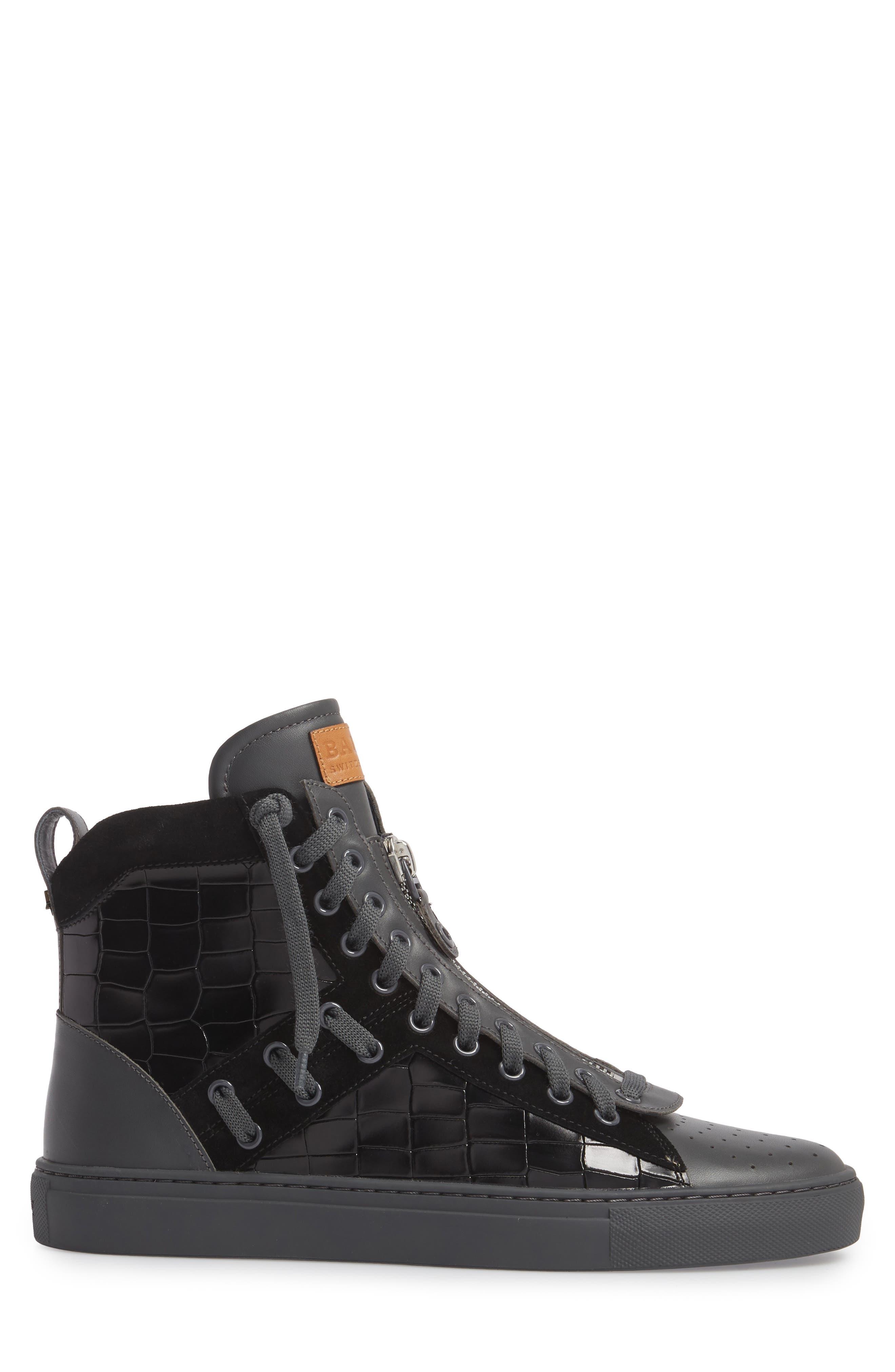 Hekem High-Top Sneaker,                             Alternate thumbnail 3, color,                             Black