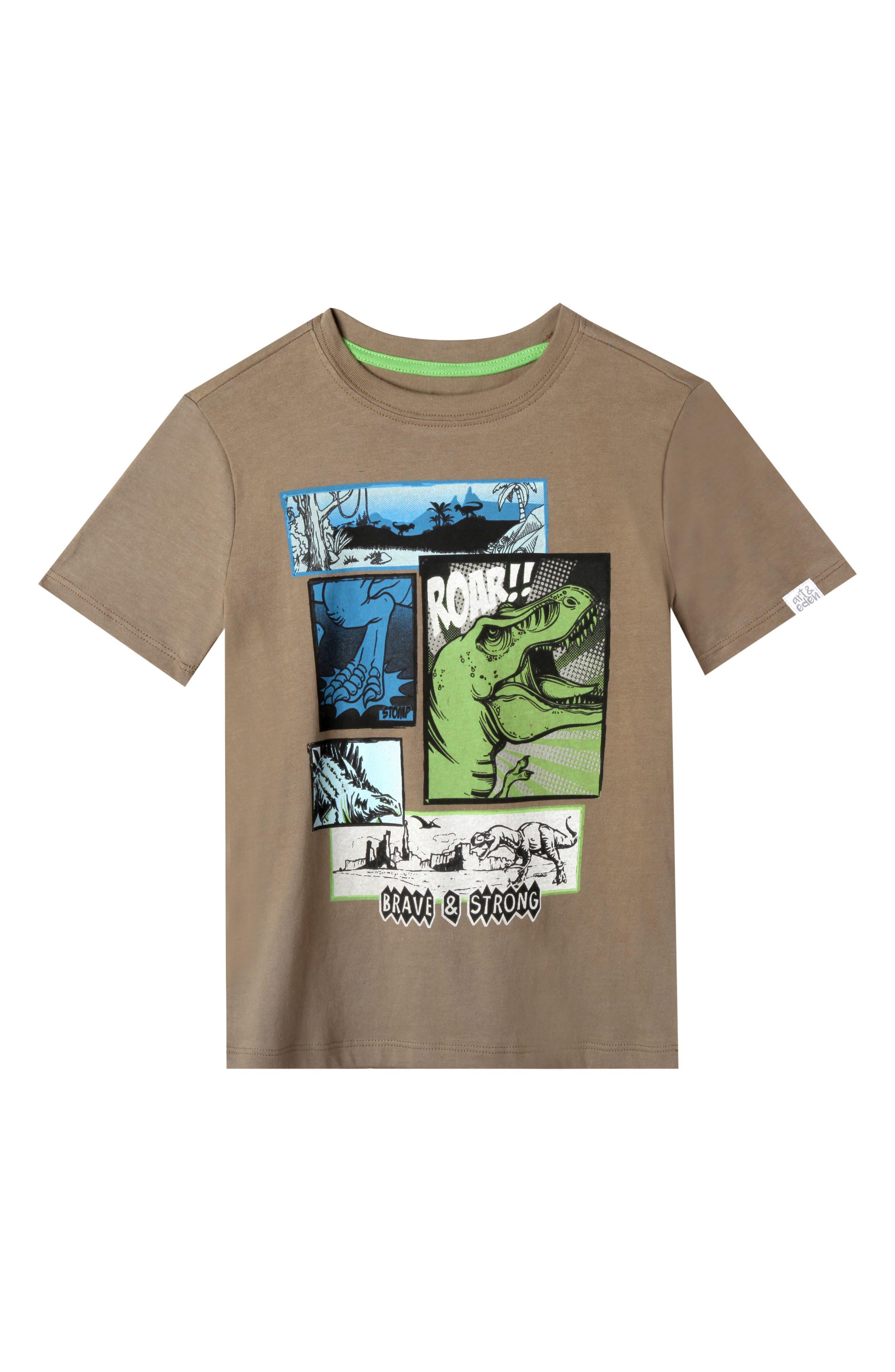 Joshua Organic Cotton T-Shirt,                         Main,                         color, Olive Branch