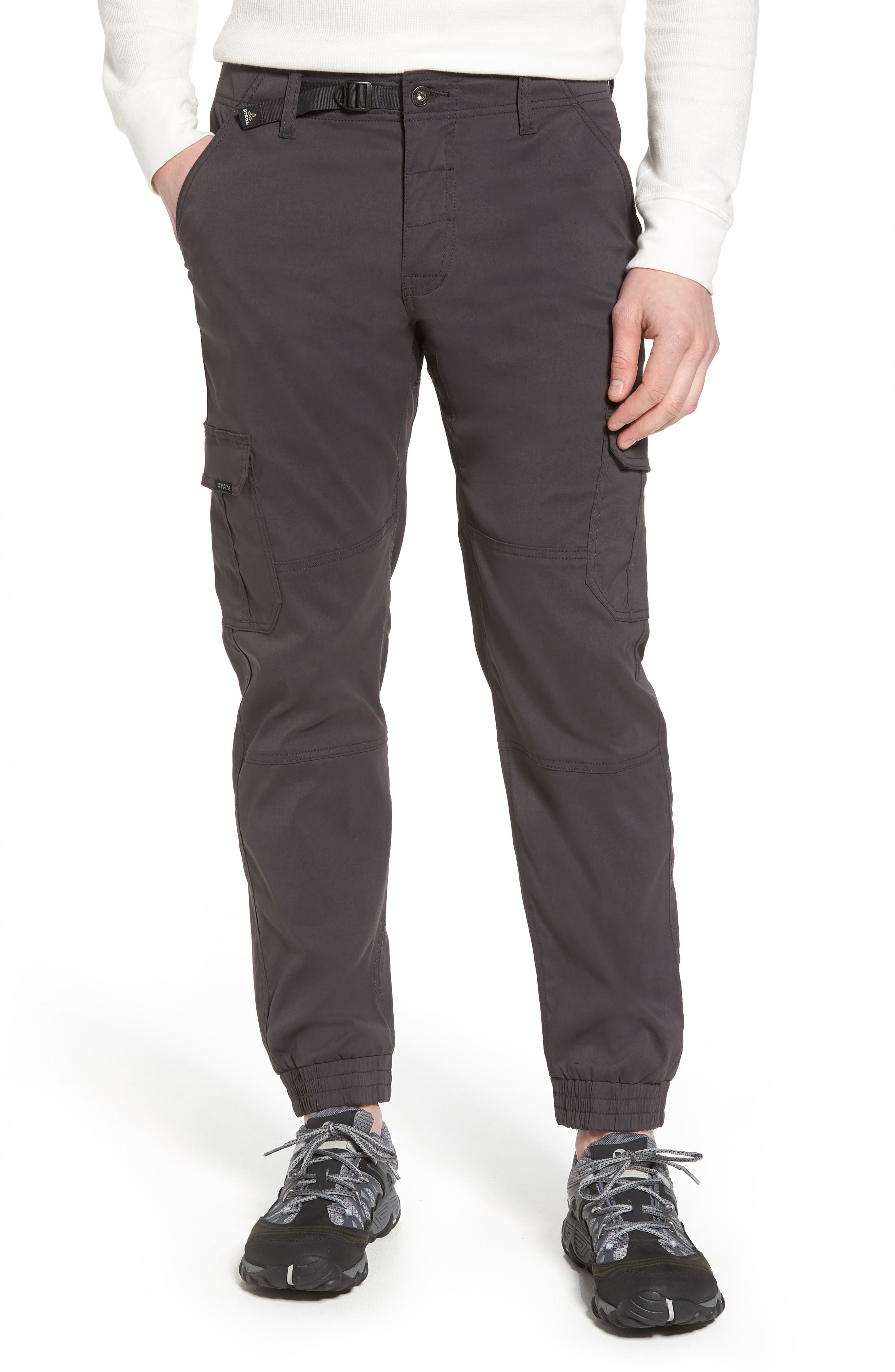 Zion Water Repellent Stretch Jogger Pants,                             Main thumbnail 1, color,                             Charcoal
