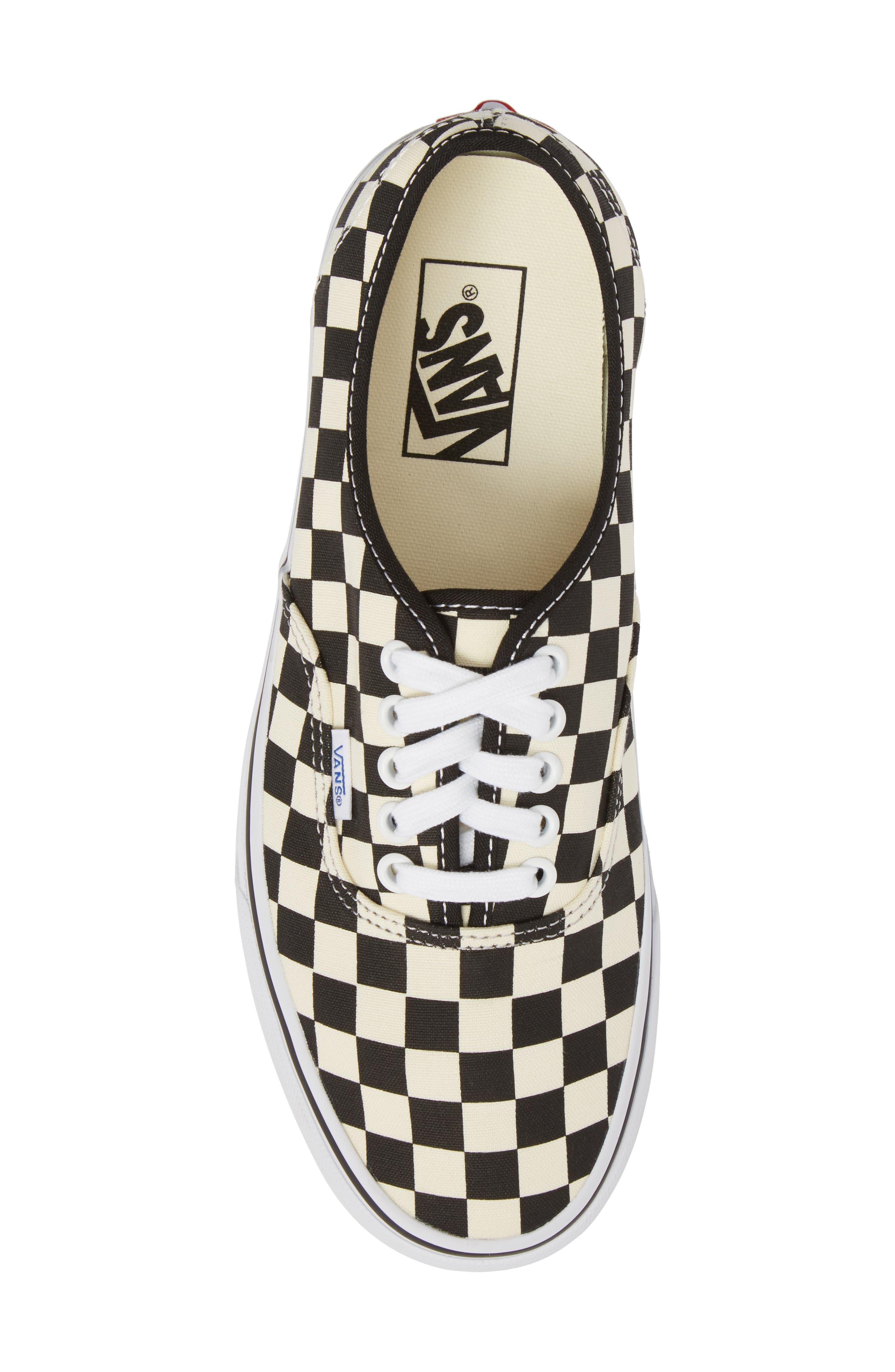 Authentic Golden Coast Sneaker,                             Alternate thumbnail 5, color,                             Black/ White Checker