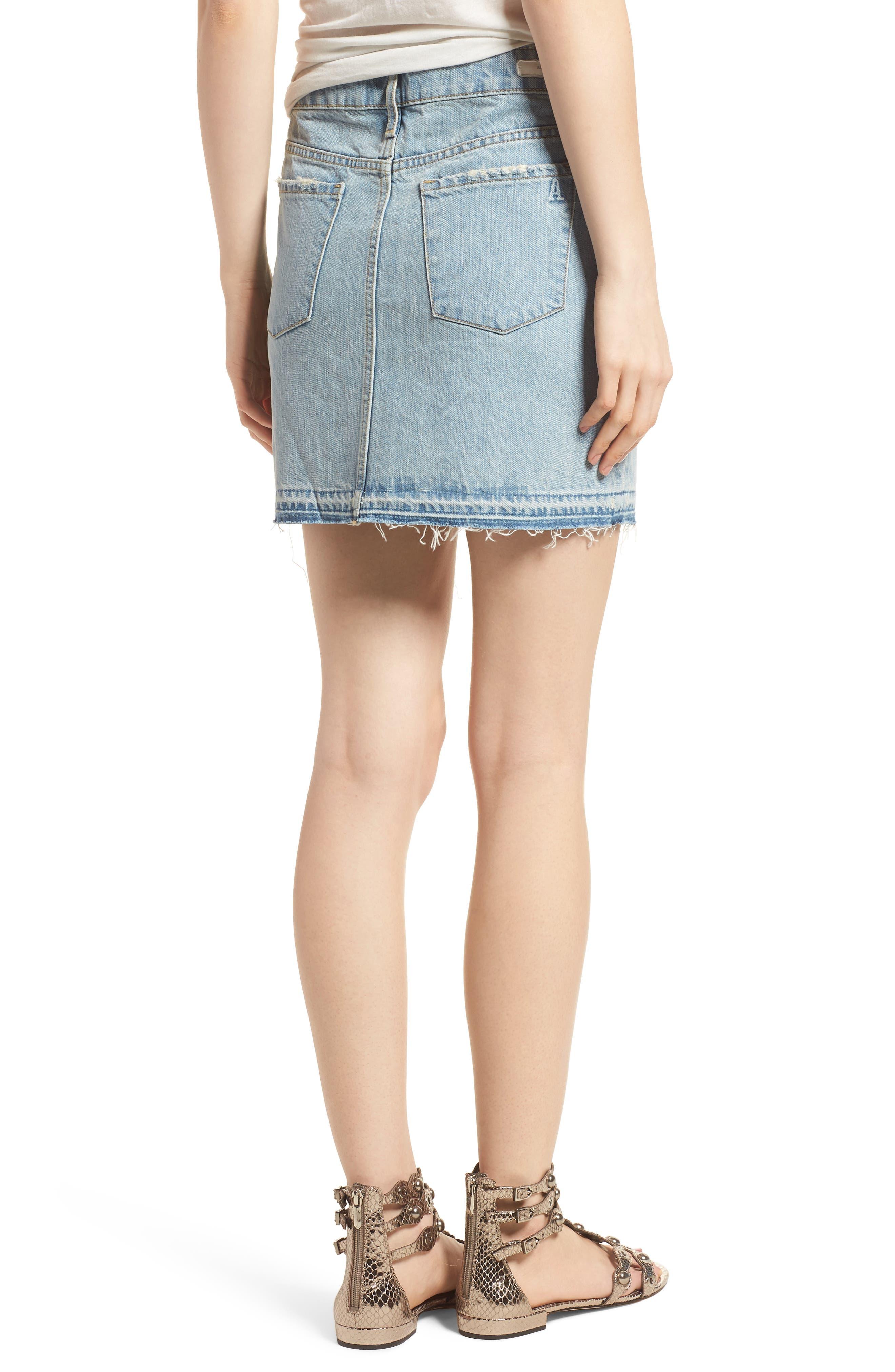 Stacy Release Hem Denim Skirt,                             Alternate thumbnail 2, color,                             Reims